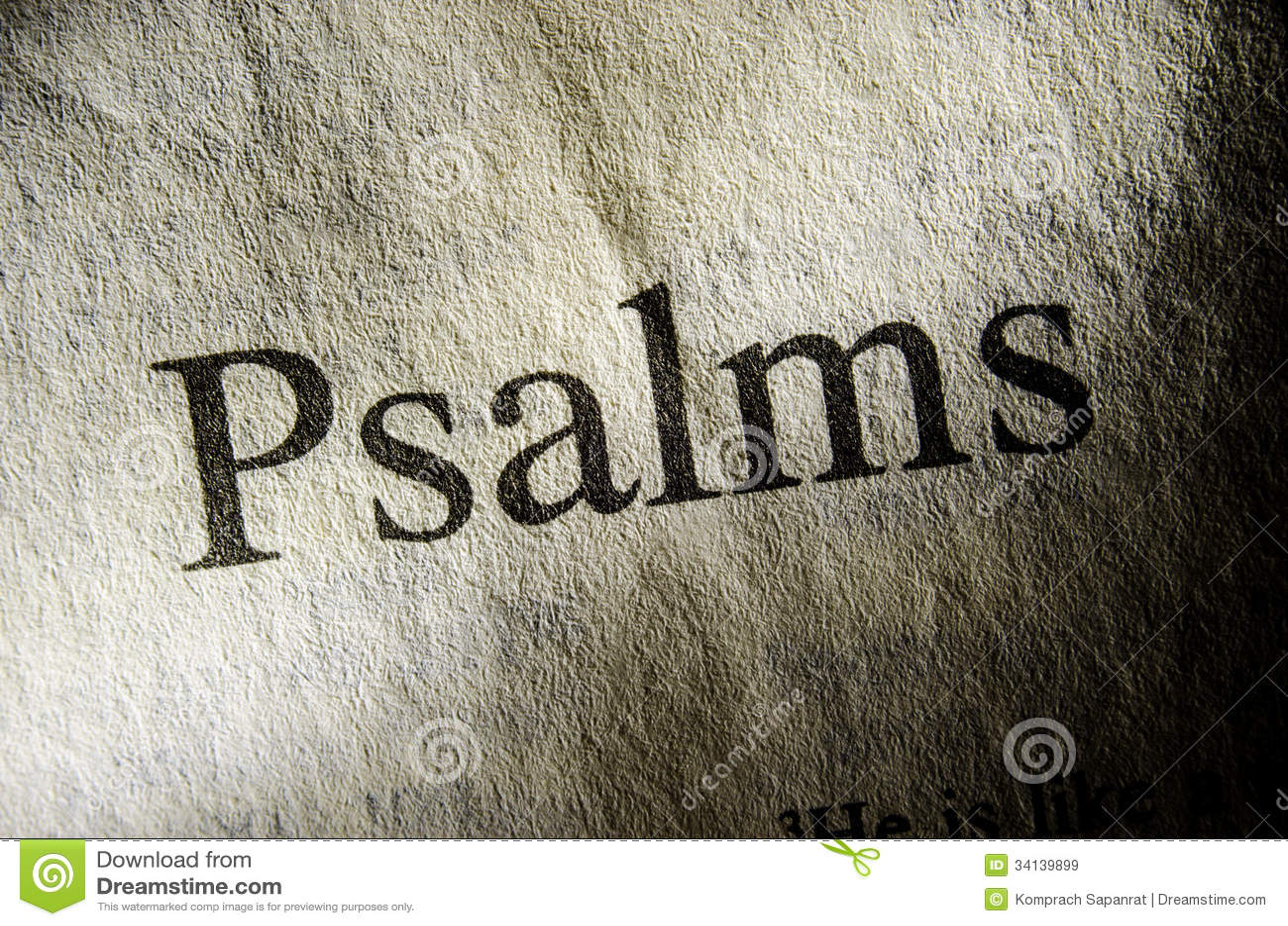 Заголовок текста псалмов