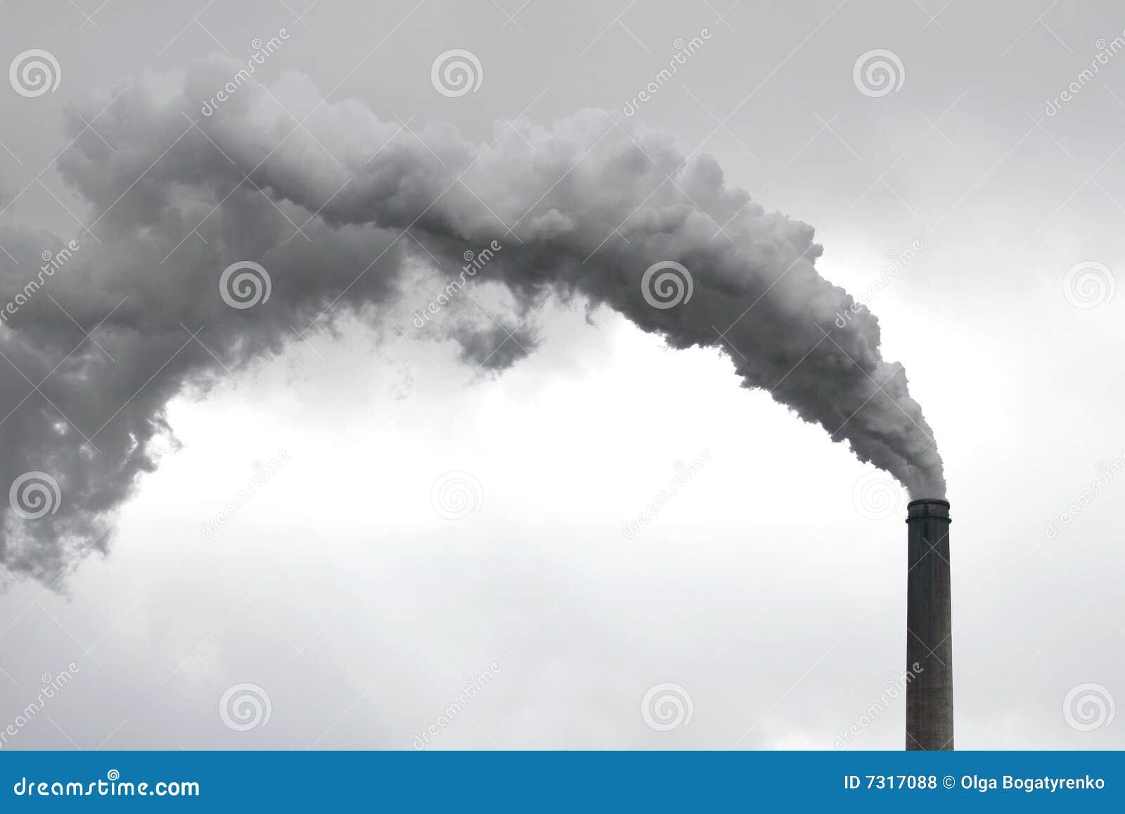 загрязнение завода печной трубы относящое к окружающей среде