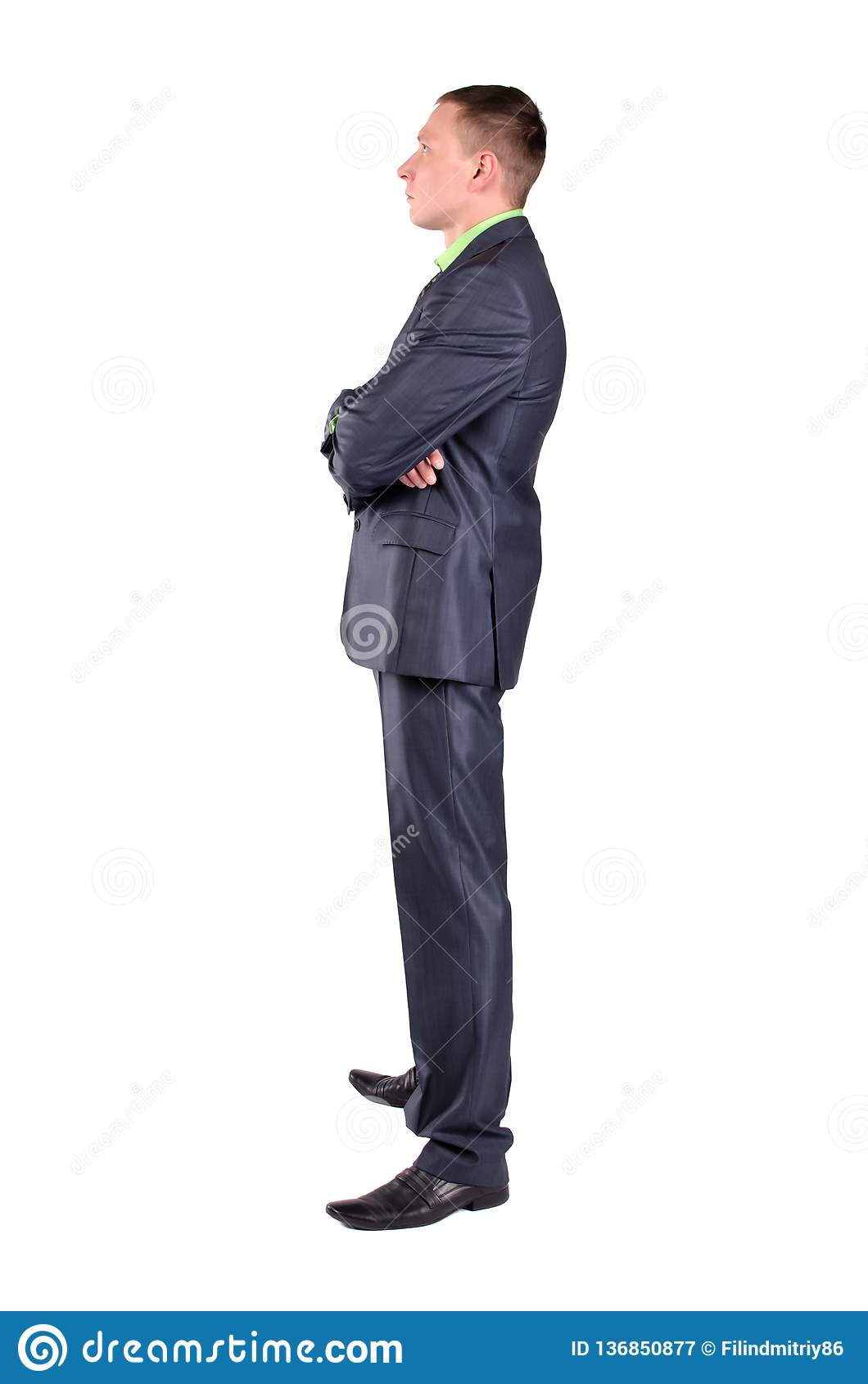 Задумчивый бизнесмен изолированная мысль