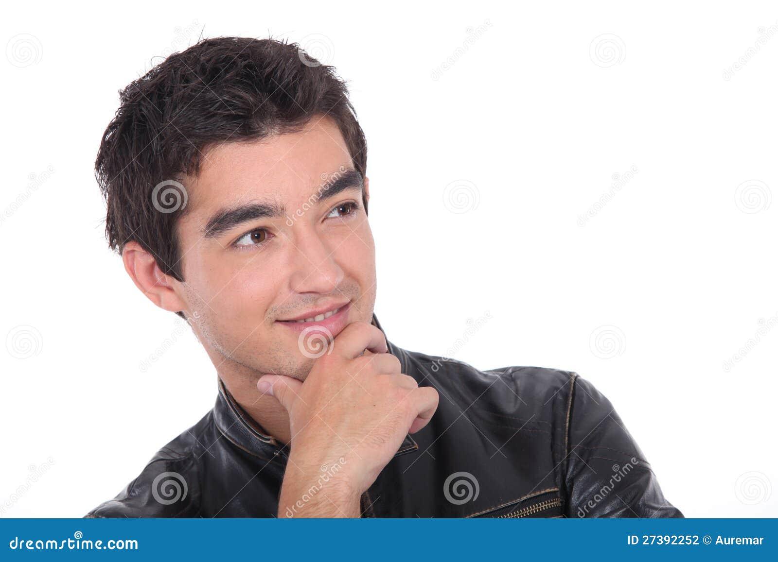 Задумчивый молодой человек