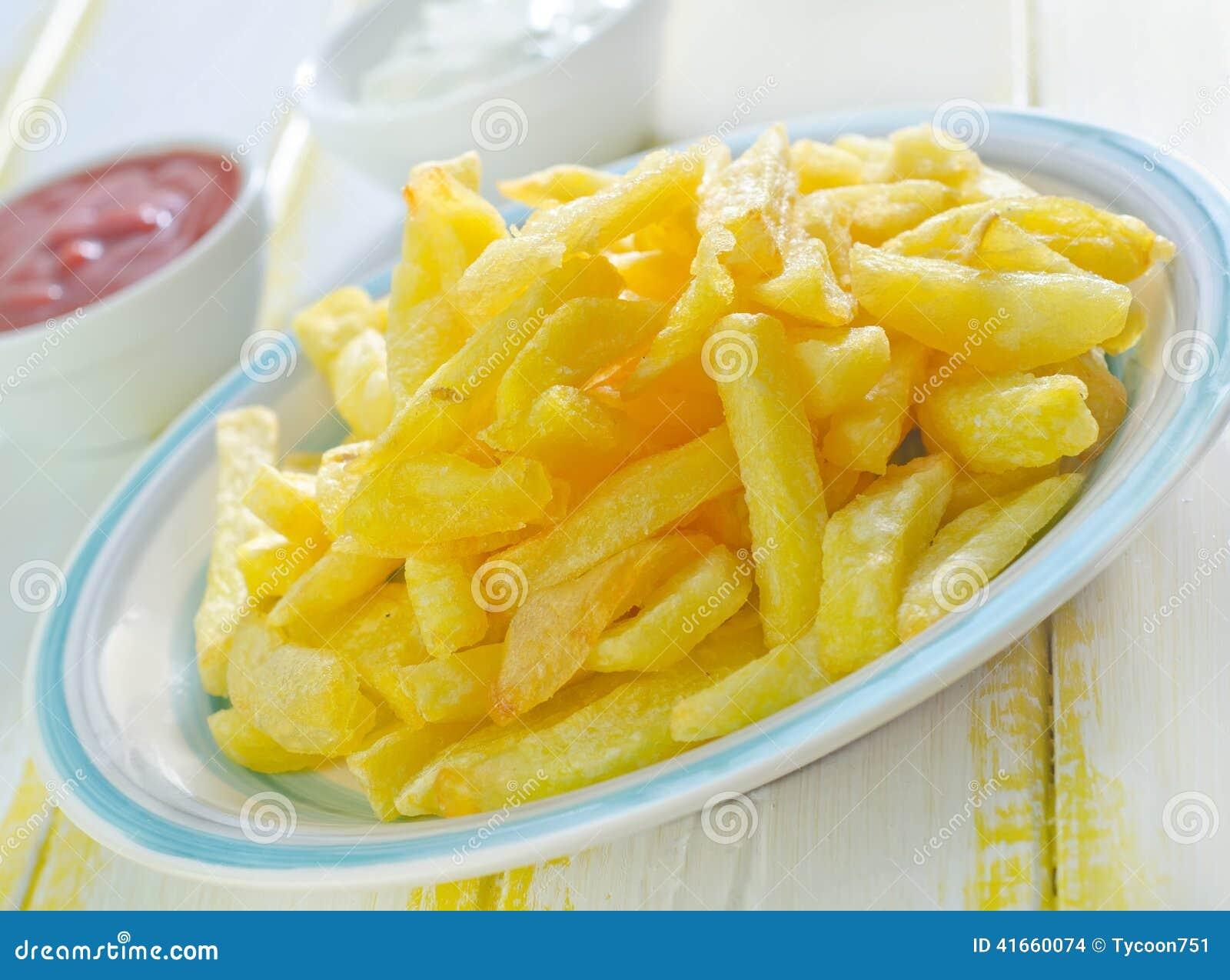 зажаренная картошка