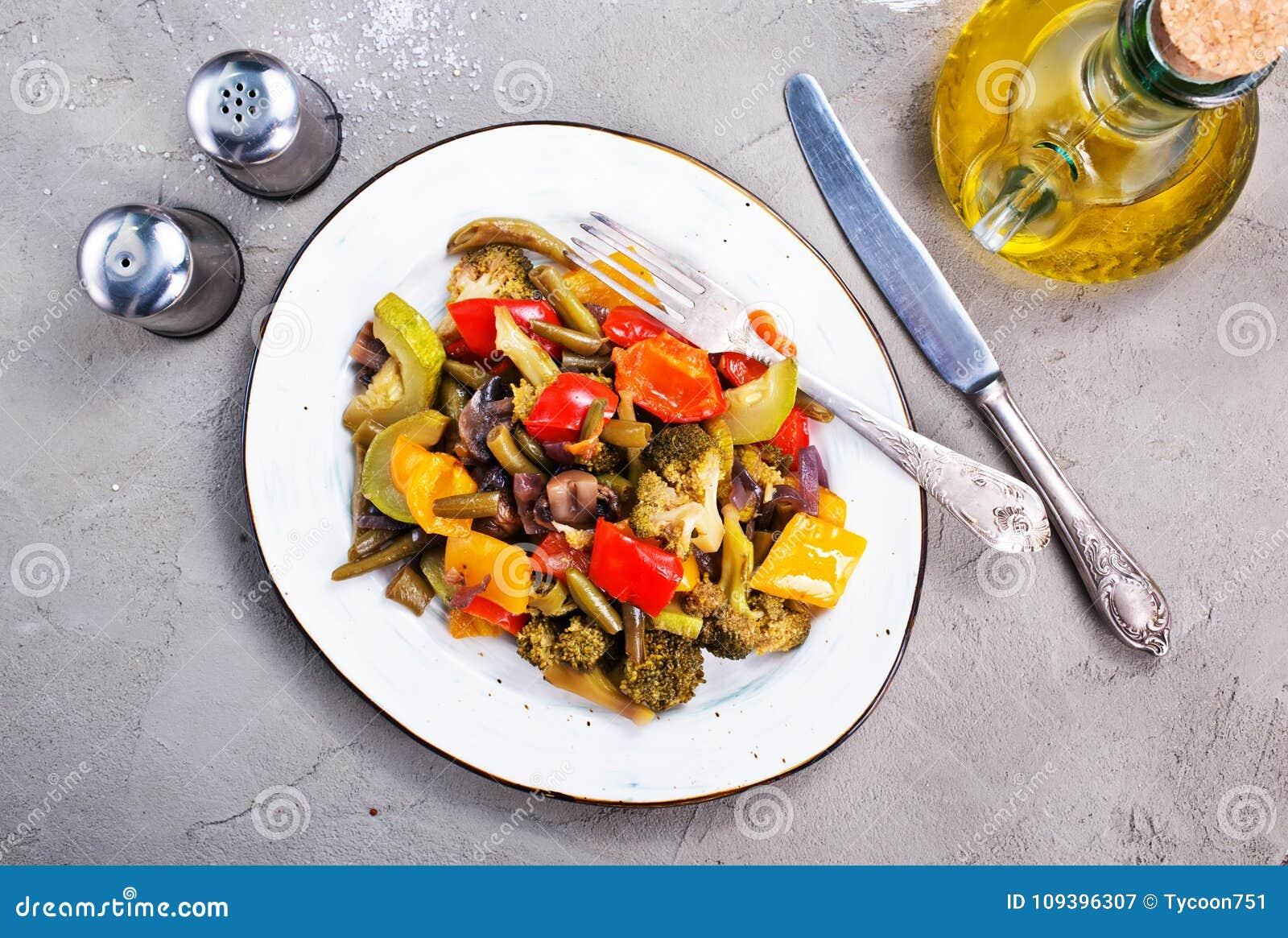 зажаренные овощи
