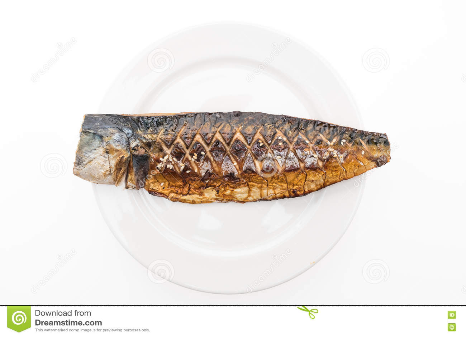 Download Зажженные рыбы saba стоковое изображение. изображение насчитывающей обед - 72283251