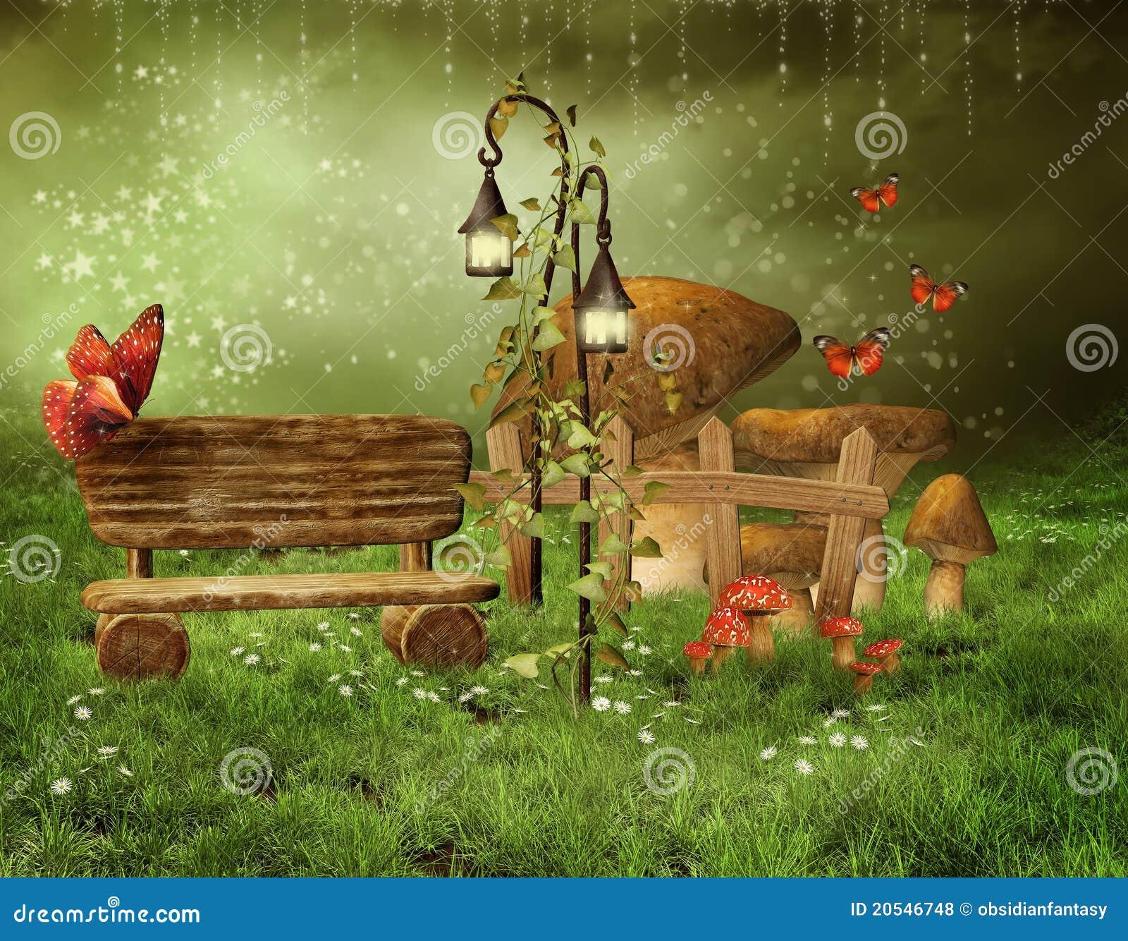 заколдованный fairy сад
