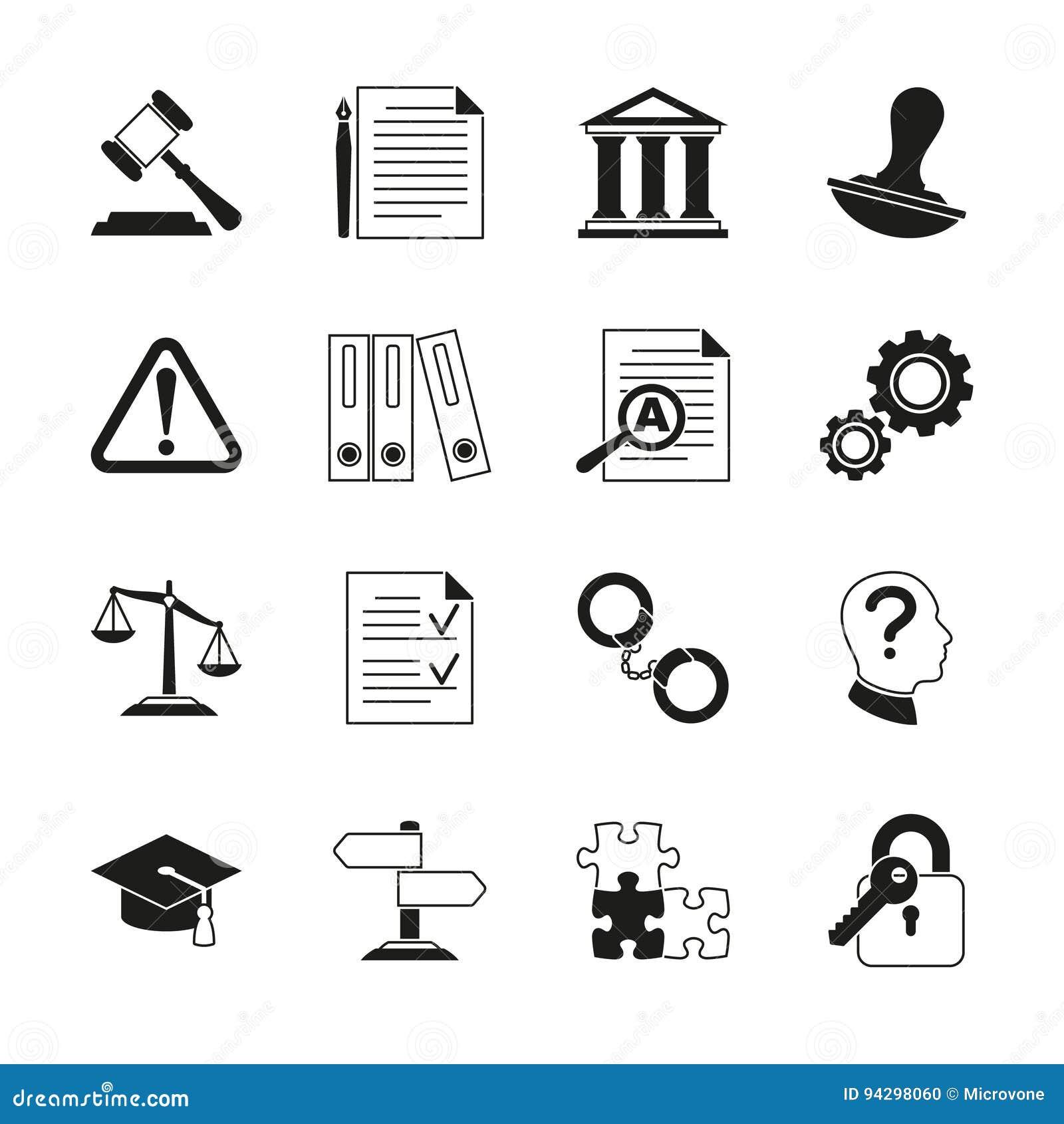Закон советуя с, законные значки вектора соответствия