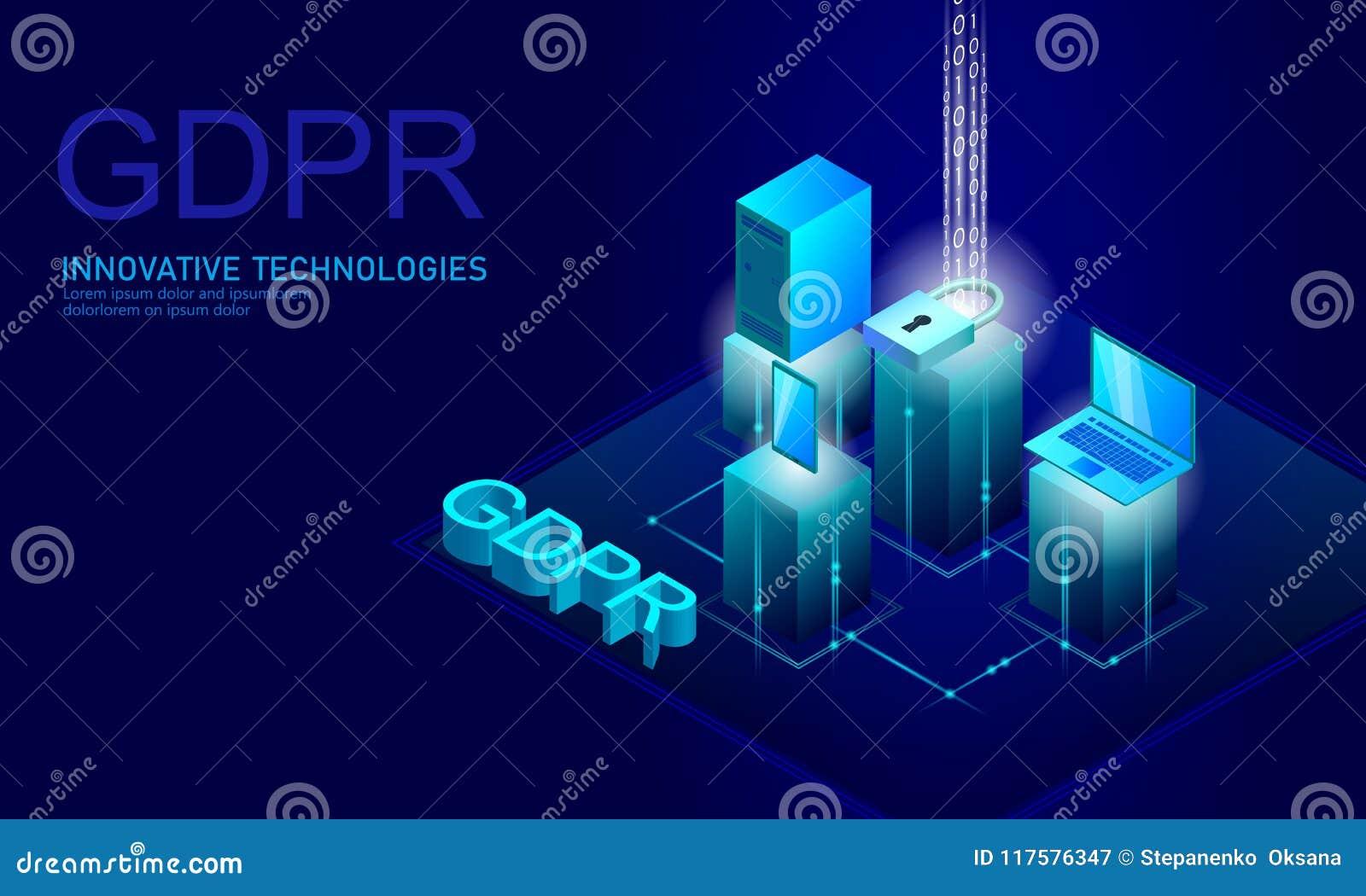 Закон GDPR защиты данных уединения Европейский союз экрана безопасности конфиденциальной информации данных регулированный Правый