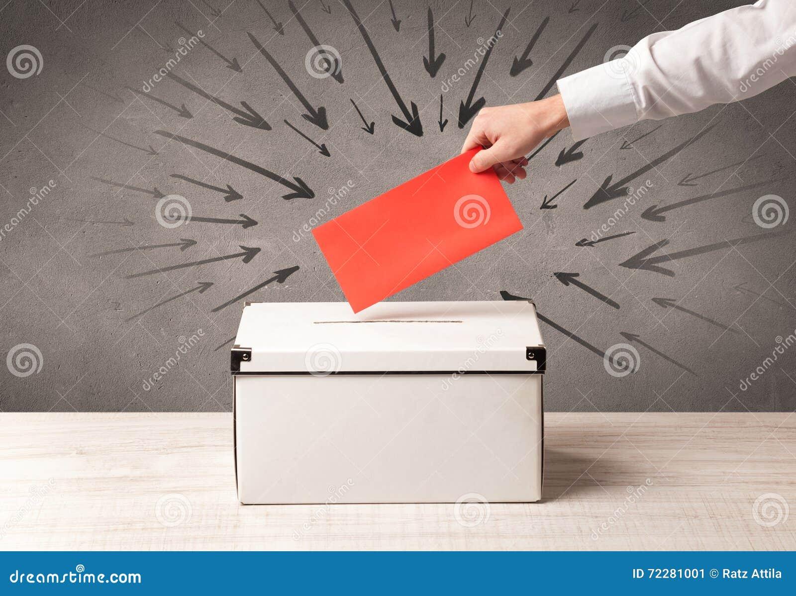Download Закройте вверх урны для избирательных бюллетеней и решающего голоса Стоковое Изображение - изображение насчитывающей решение, бальзама: 72281001