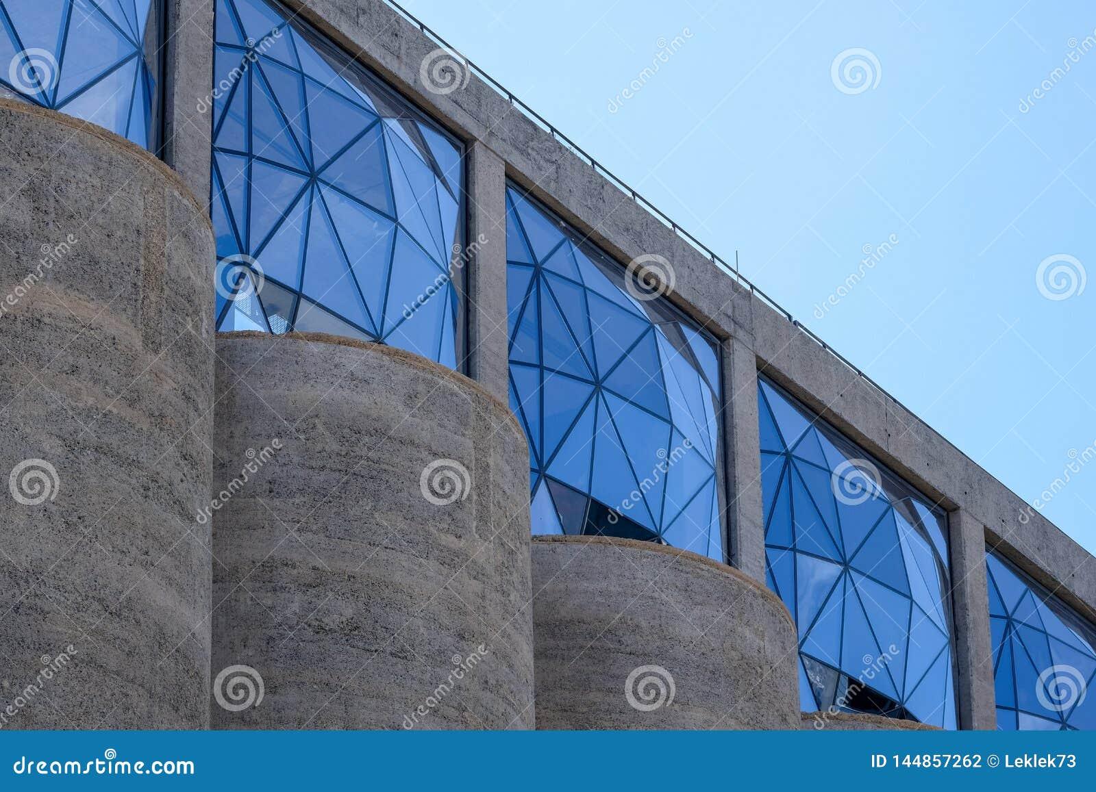 Закройте вверх экстерьера музея Zeitz Mocaa современного искусства Африки