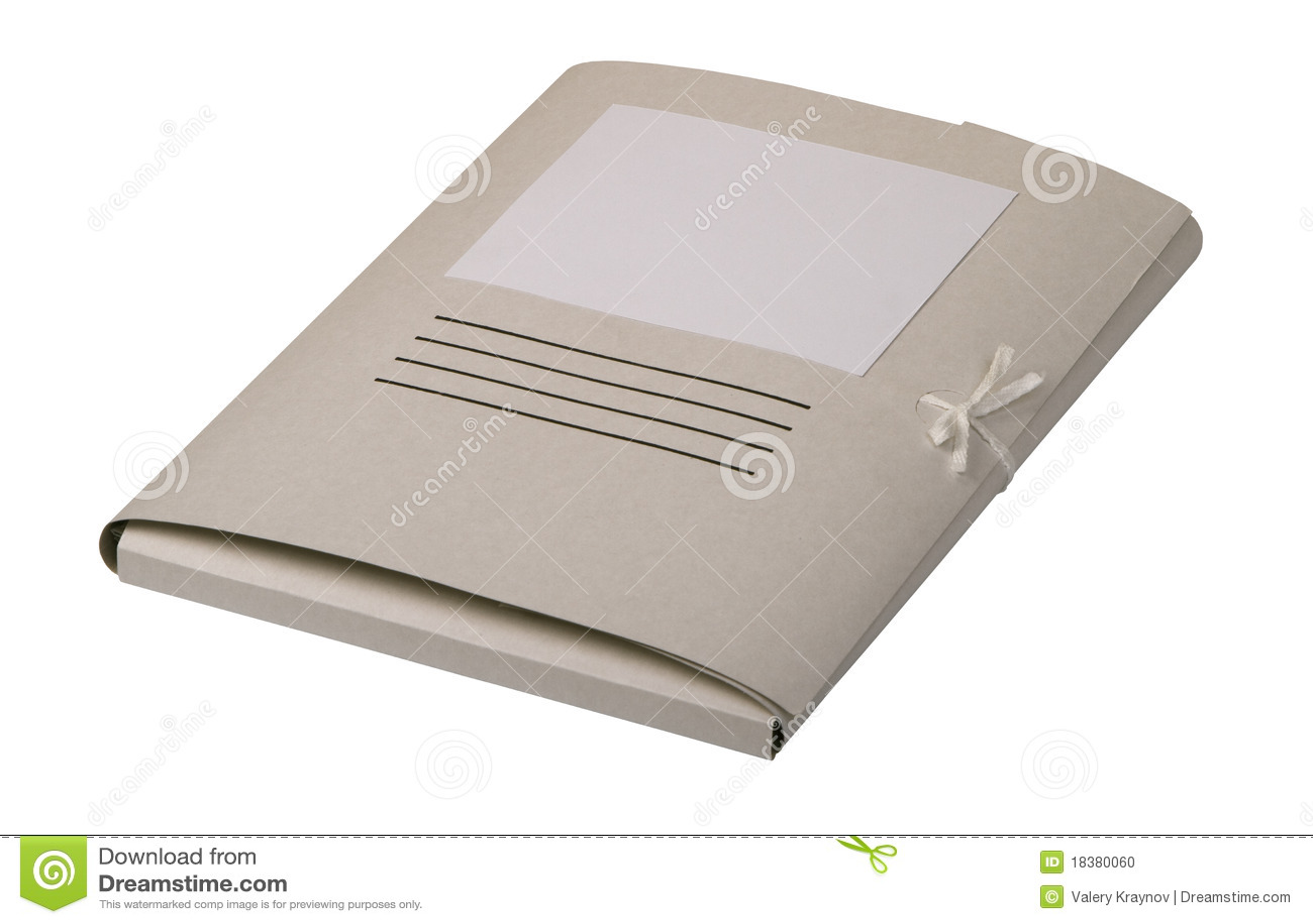 закрытая бумага скоросшивателя документов