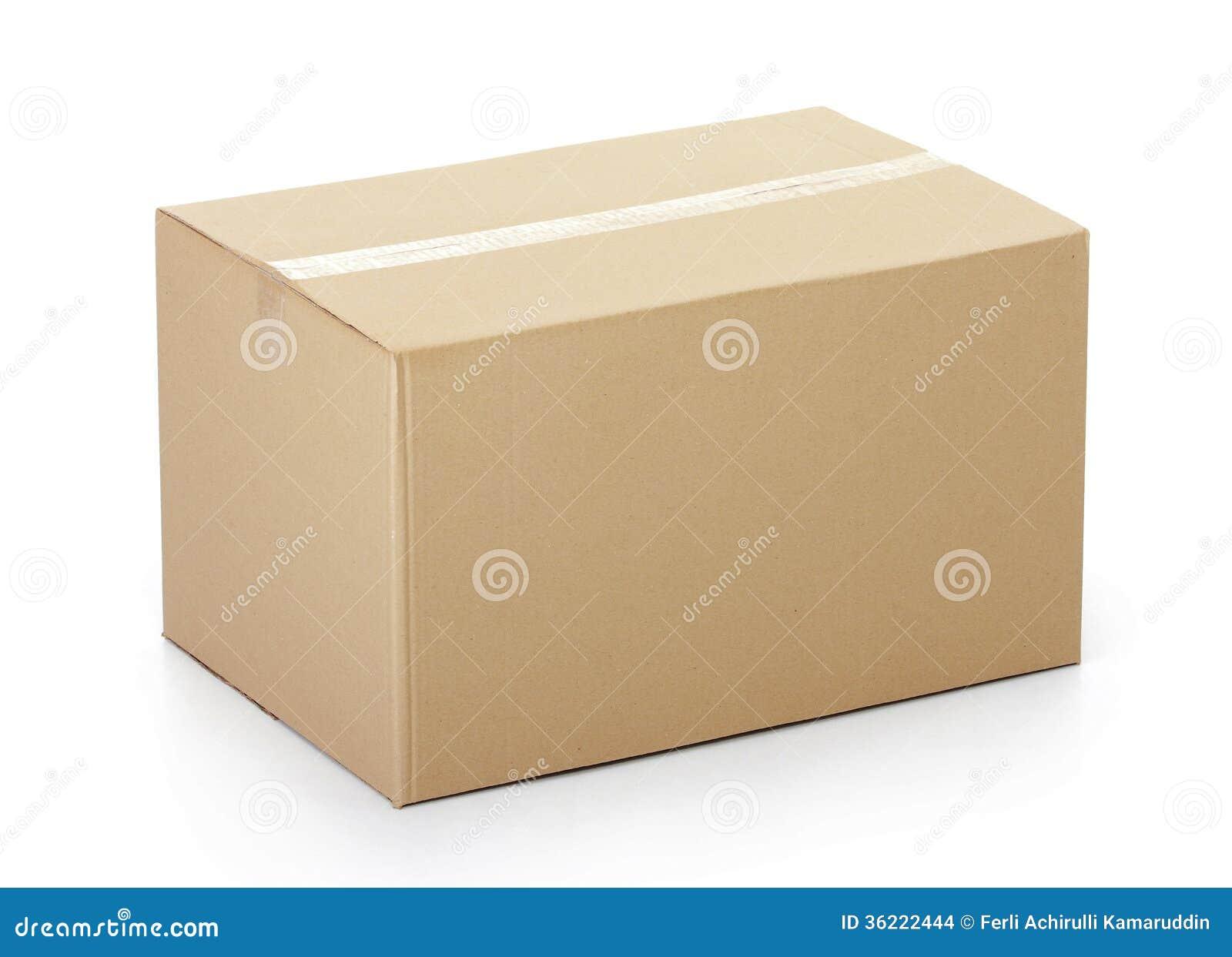 Закрытая картонная коробка связанная тесьмой вверх