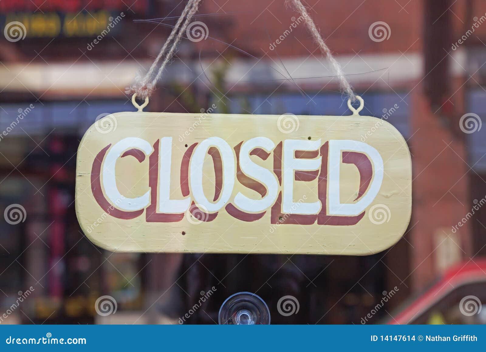 закрытый знак