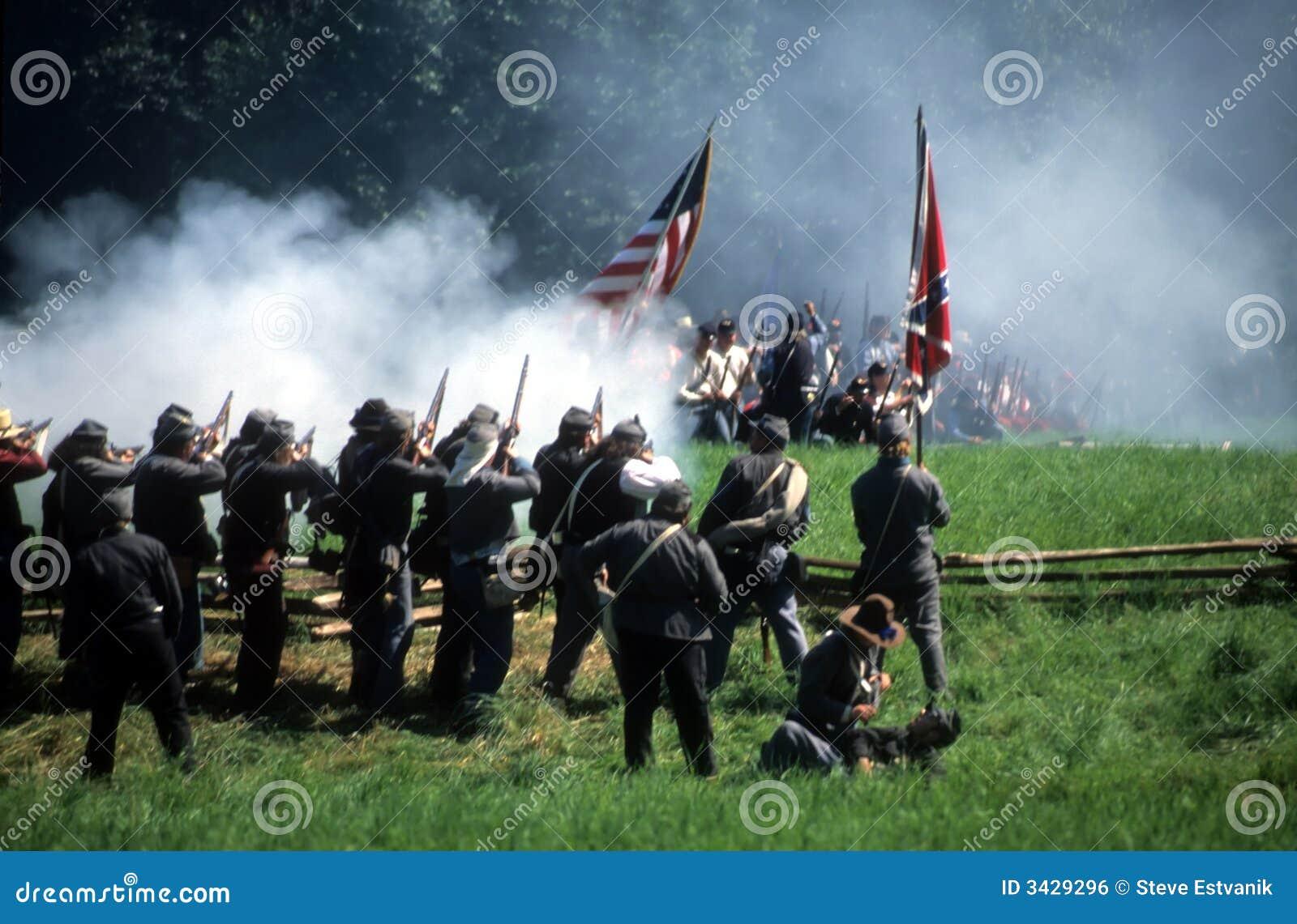 залп пожара confederates