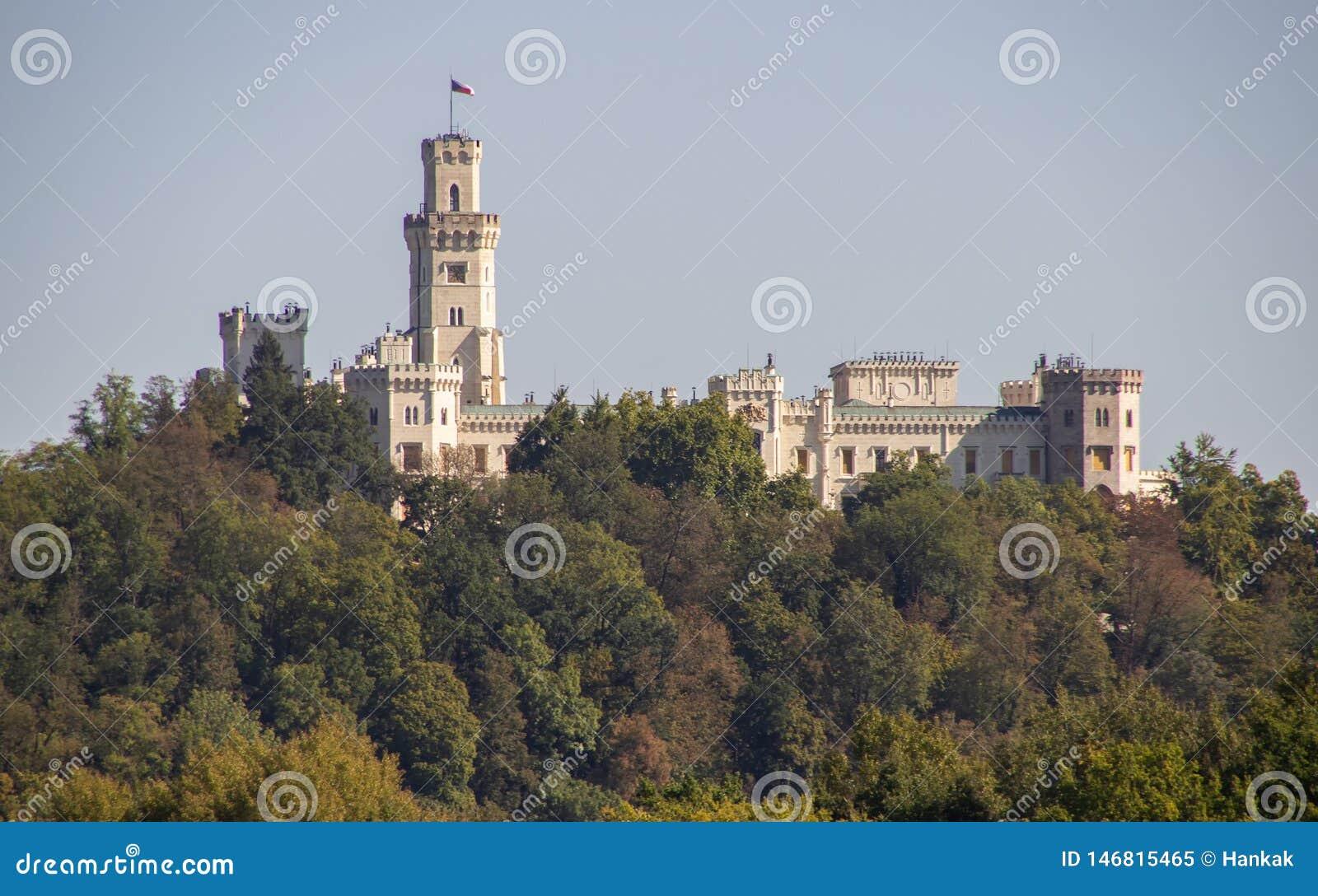 Замок в Hluboka nad Vltavou, чехии