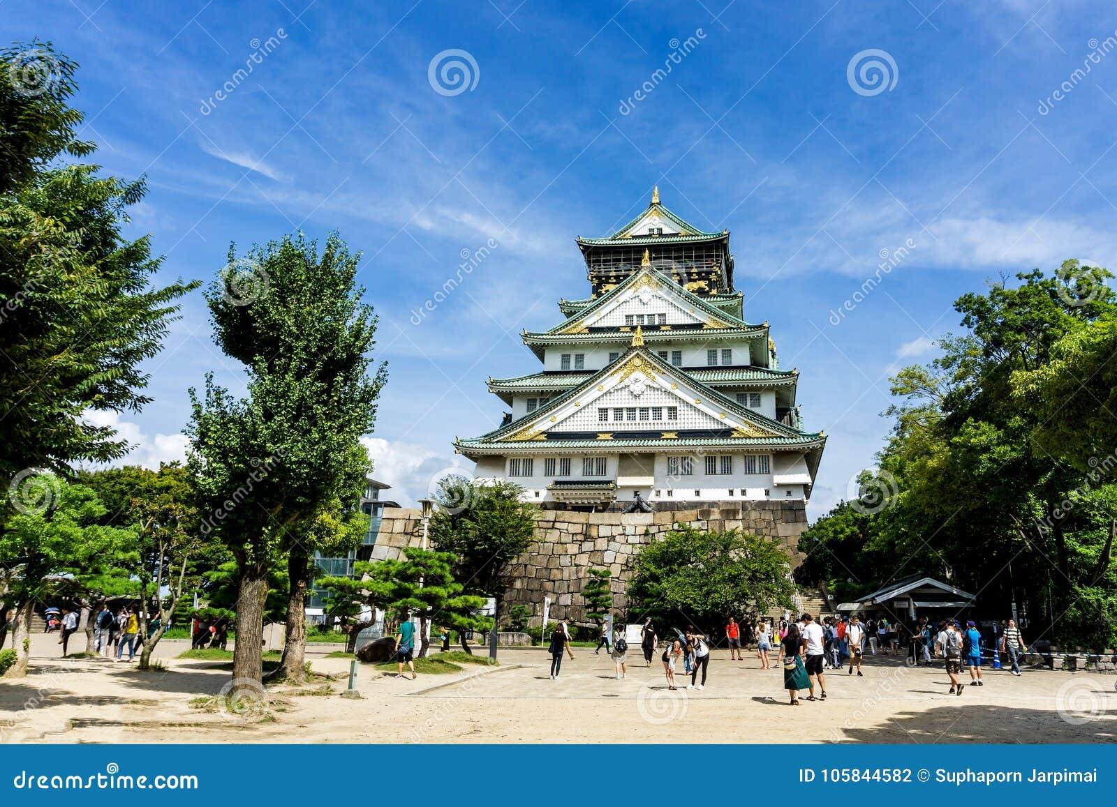 Замок Осака в Осака Японии