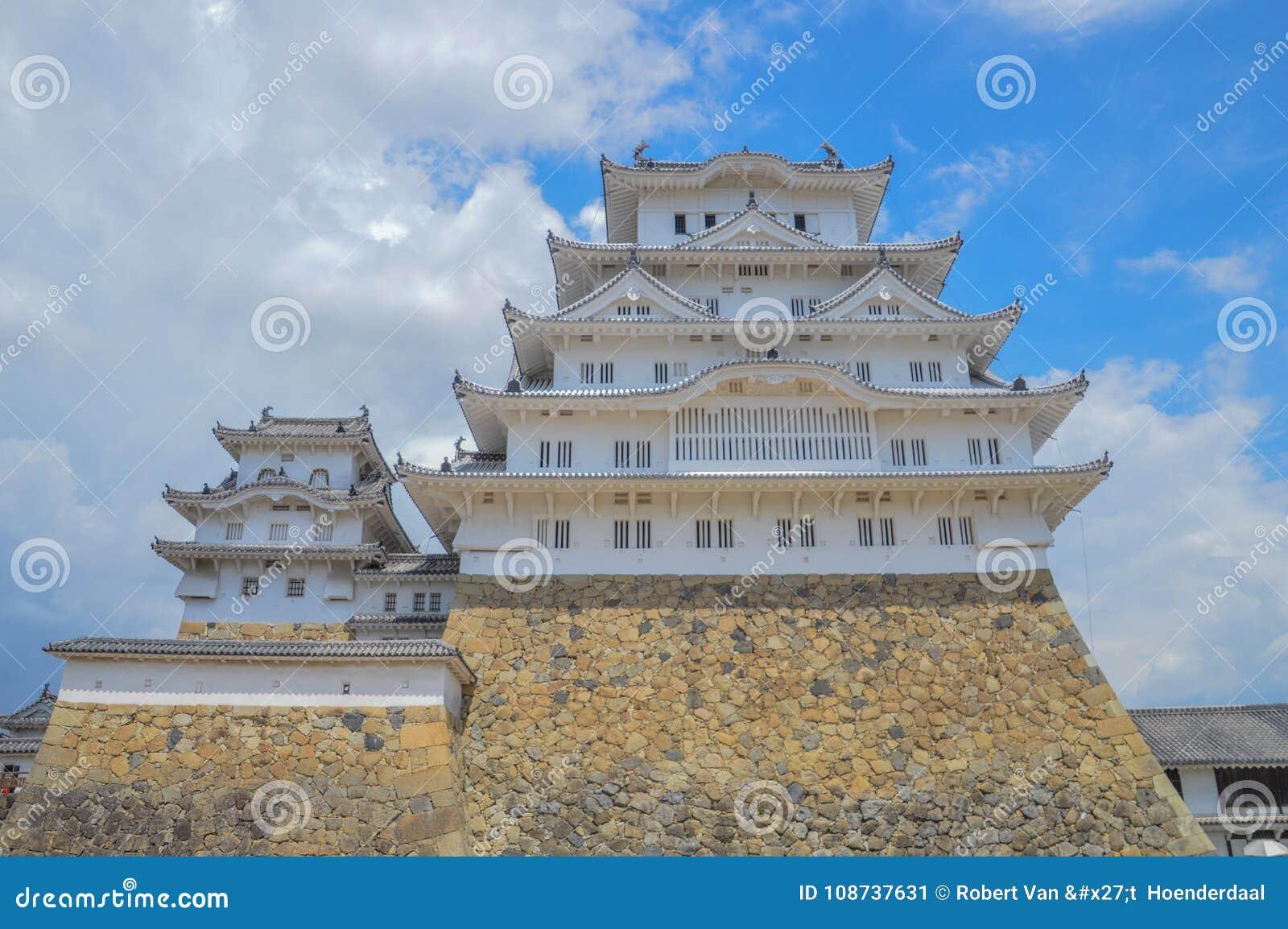 Замок Япония Himeji в цвете