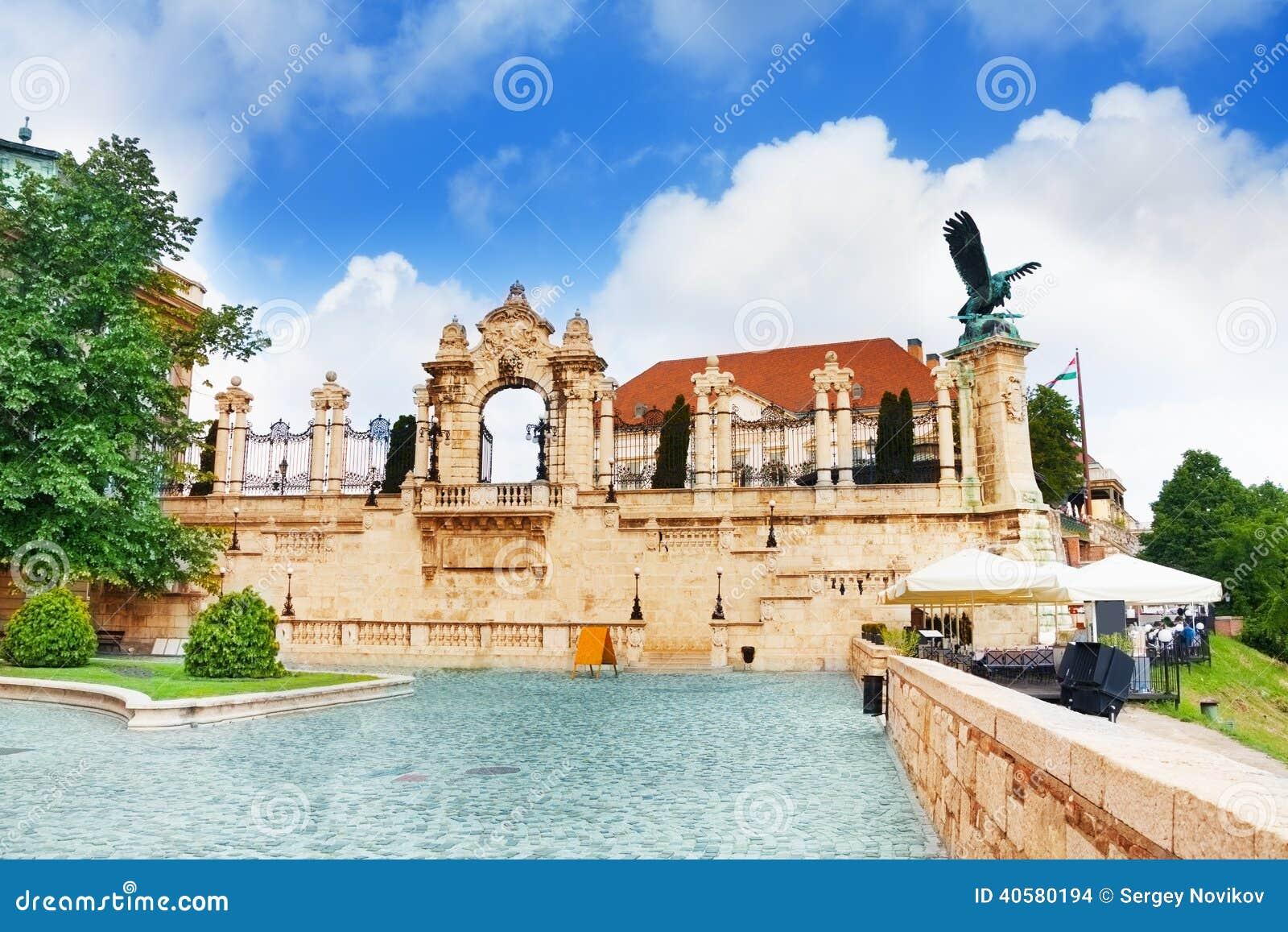 Замок Buda, королевский дворец, строб Habsburg