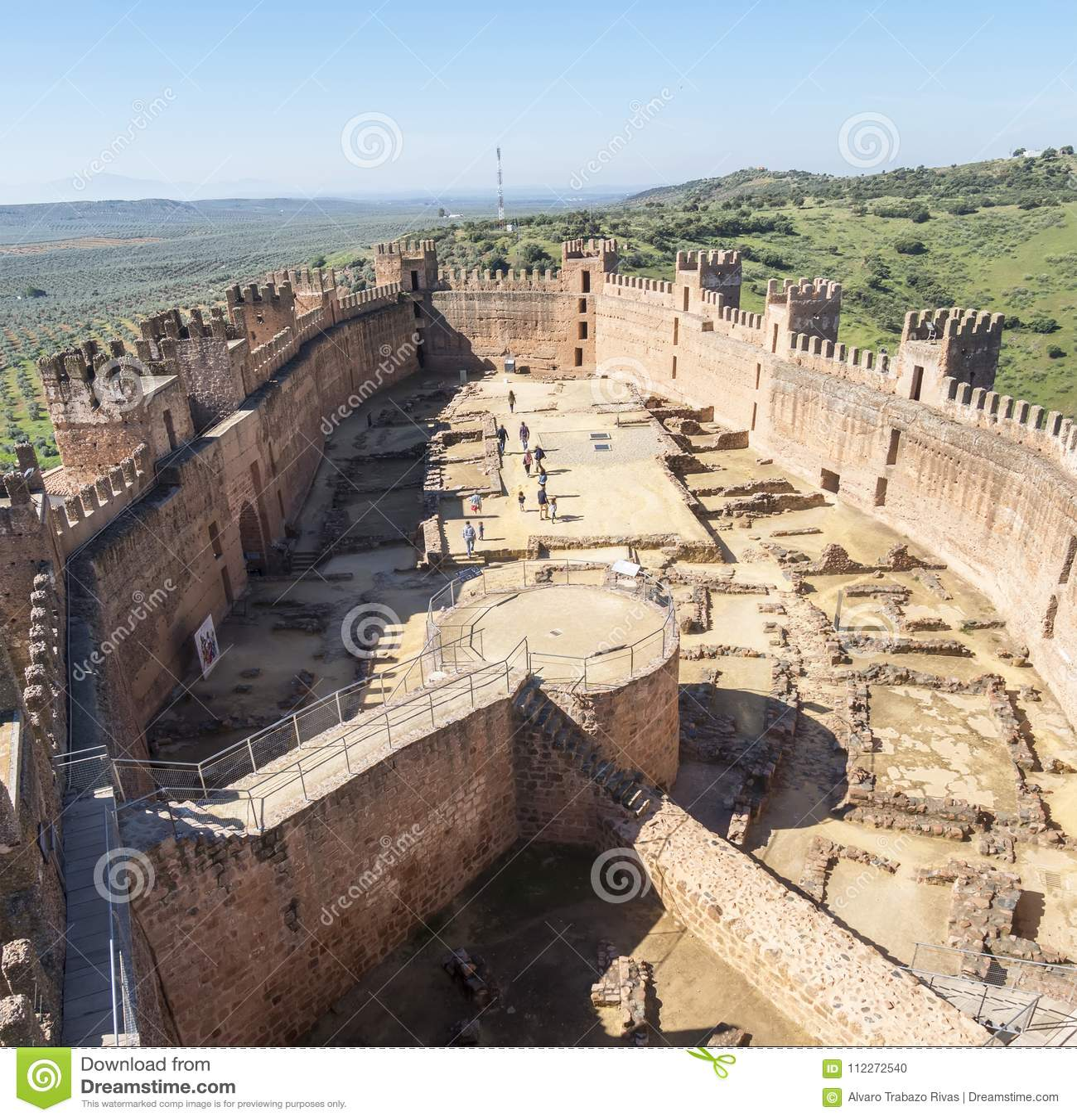 Замок Burgalimar, al-Hamma хоронити, деревня encina Ла Baños de, j