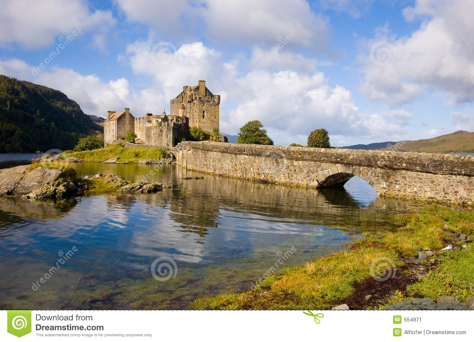 замок donan eilean Шотландия