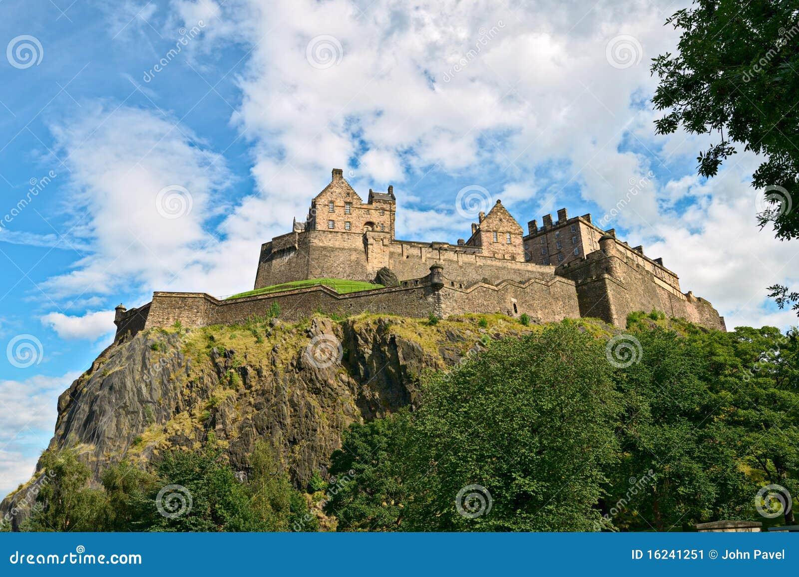 замок edinburgh Шотландия западная