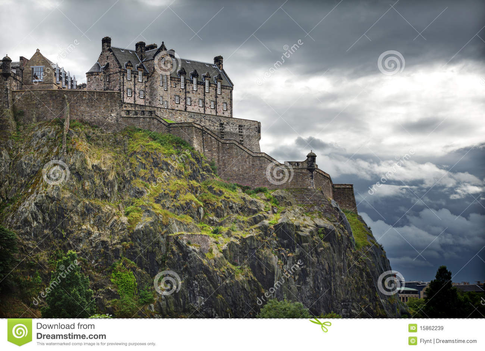 замок edinburgh Шотландия