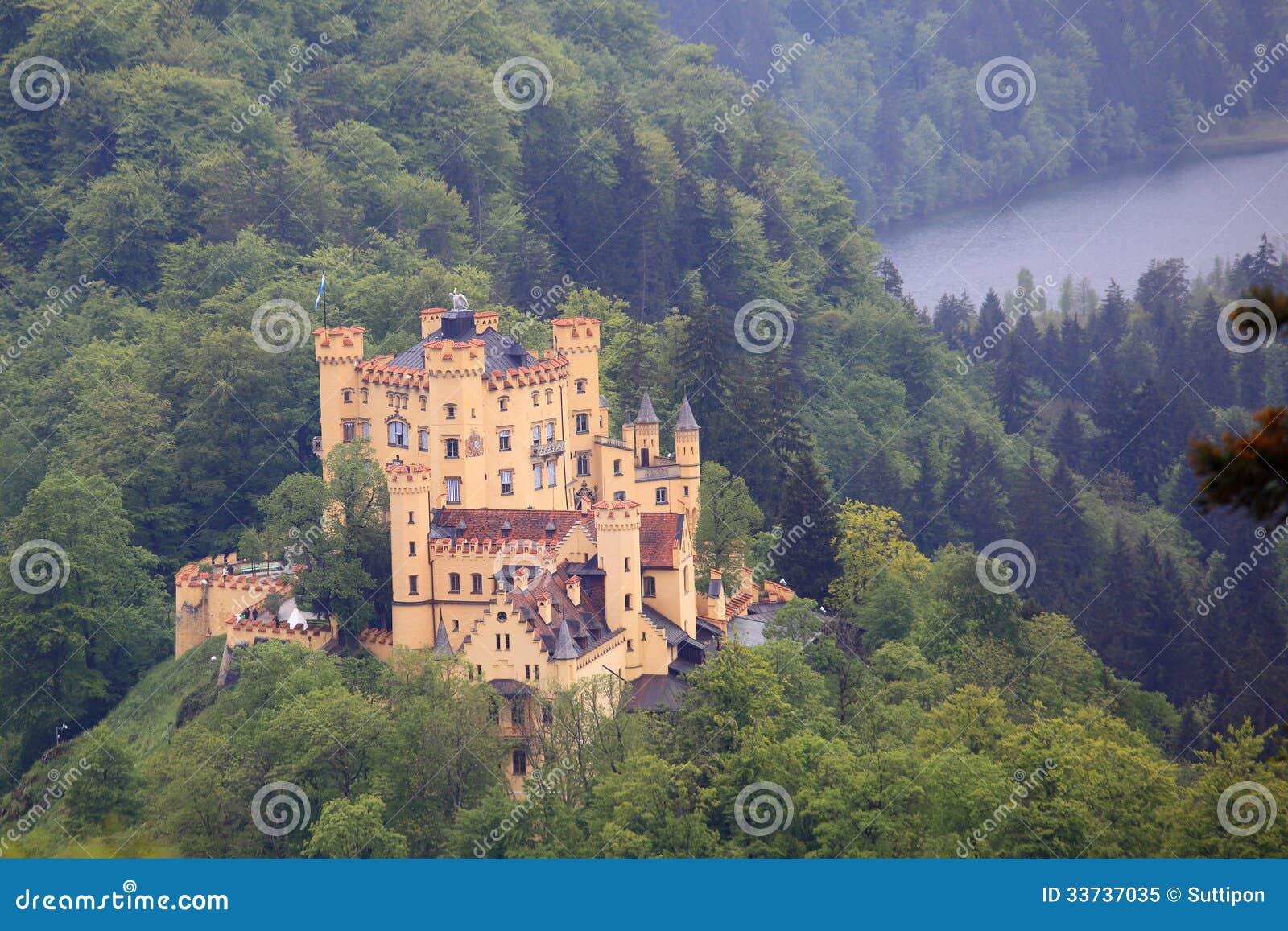Замок Hohenschwangau в Баварии