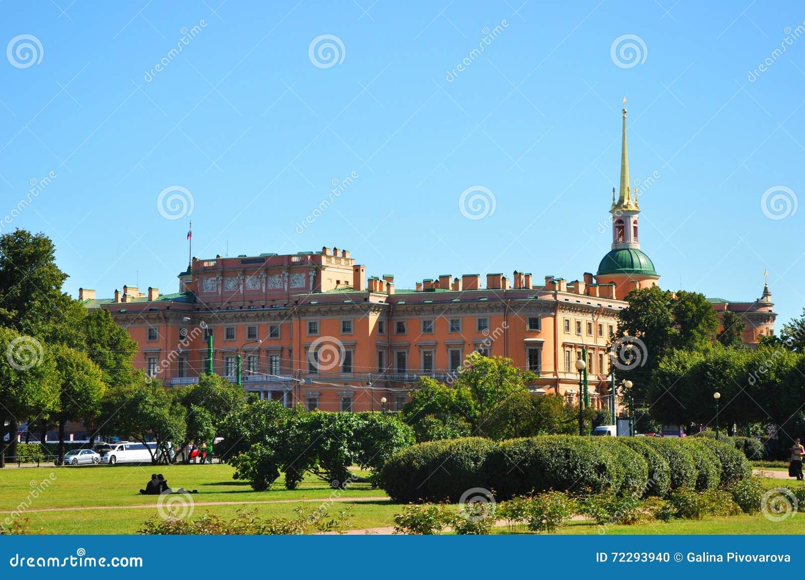 Download Замок Mikhailovsky в Санкт-Петербурге Стоковое Фото - изображение насчитывающей около, petersburg: 72293940