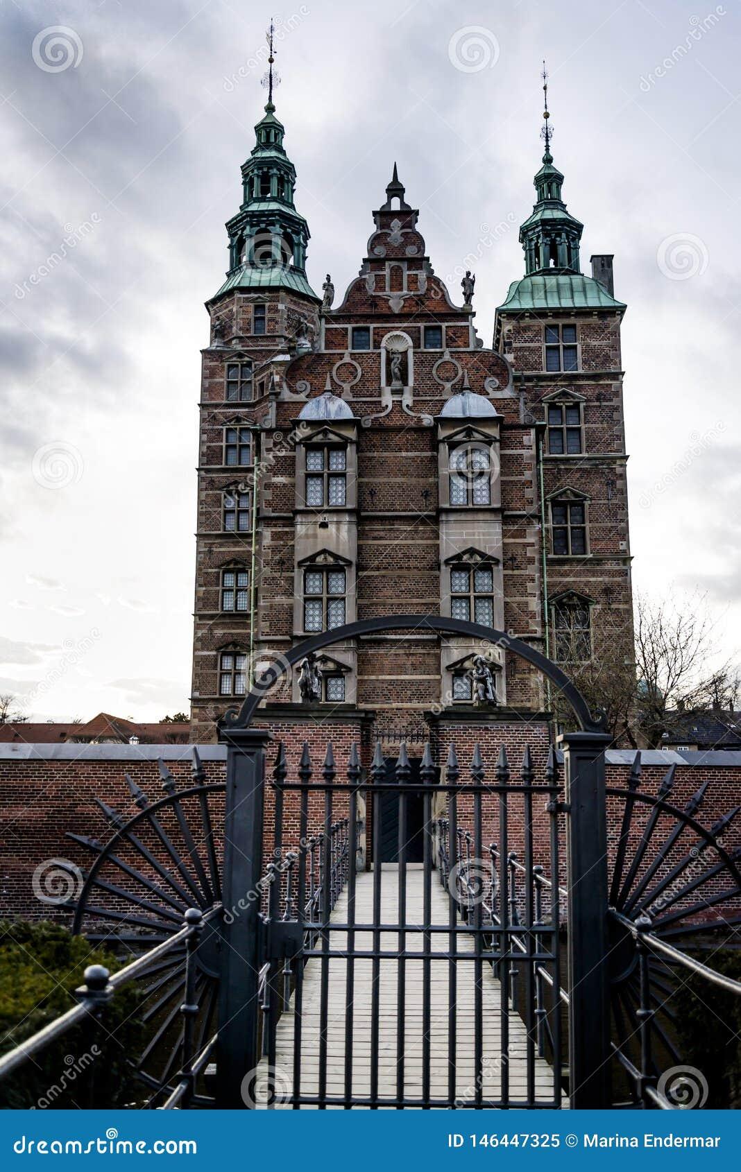 Замок Rosenborg! Седьмой век, Копенгаген, Дания