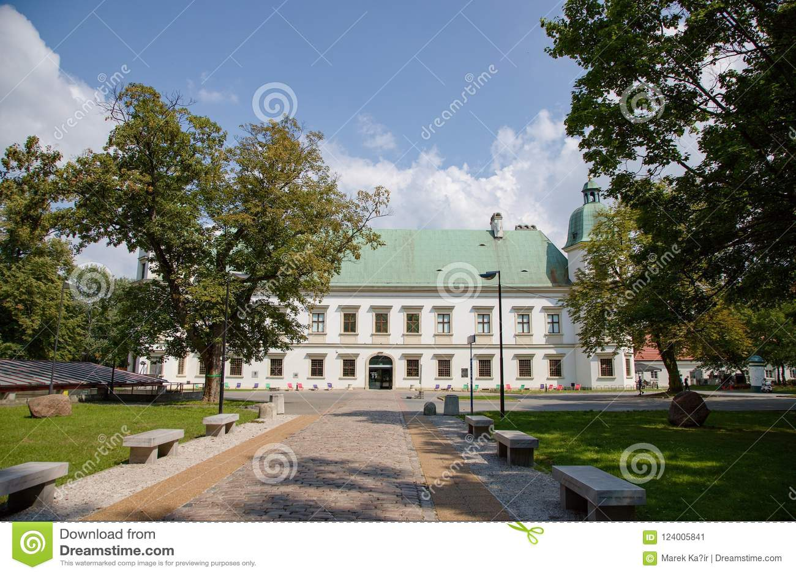 Замок w ³ Ujazdà в Варшаве в Польше, Европе