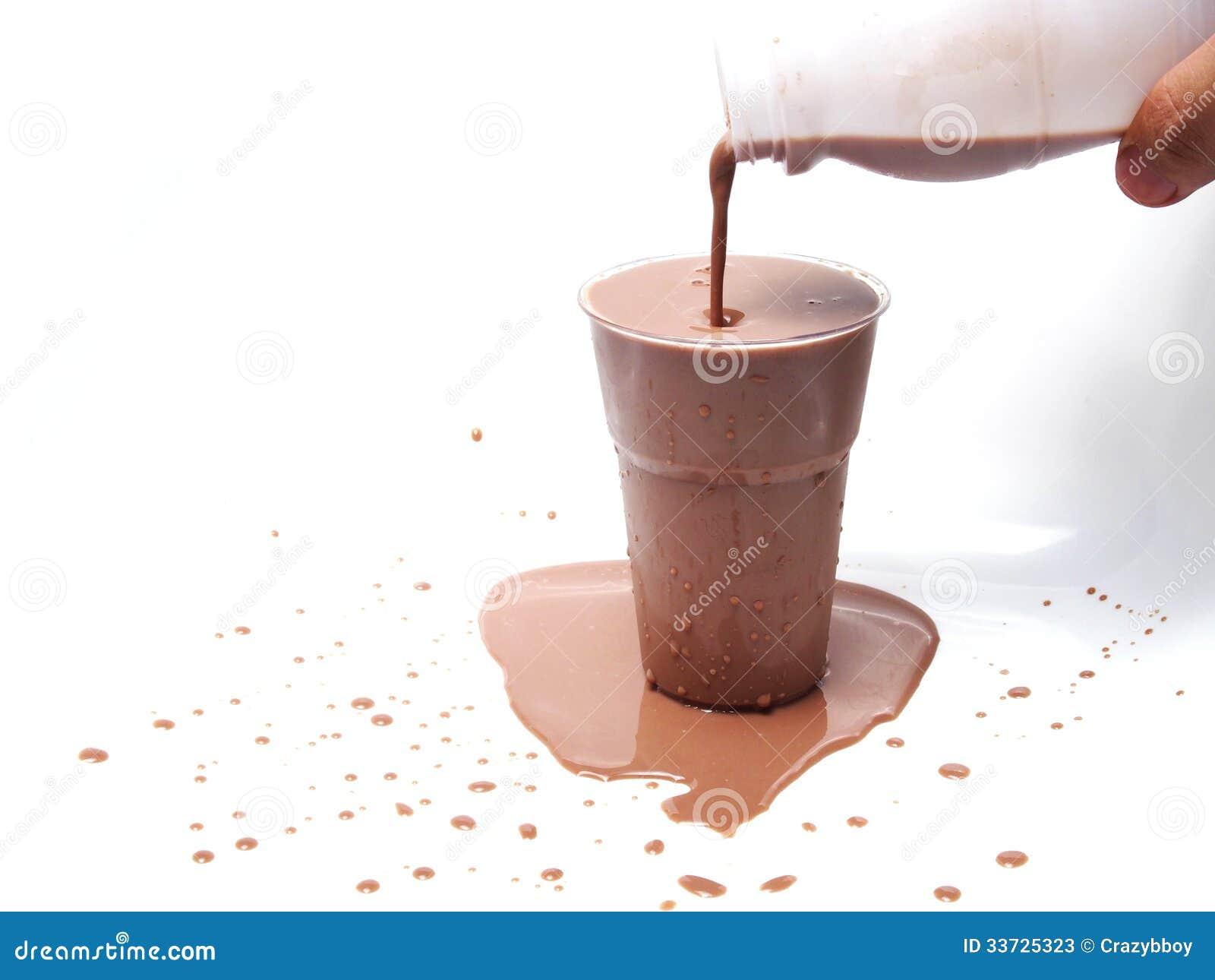 Замороженное шоколадное молоко
