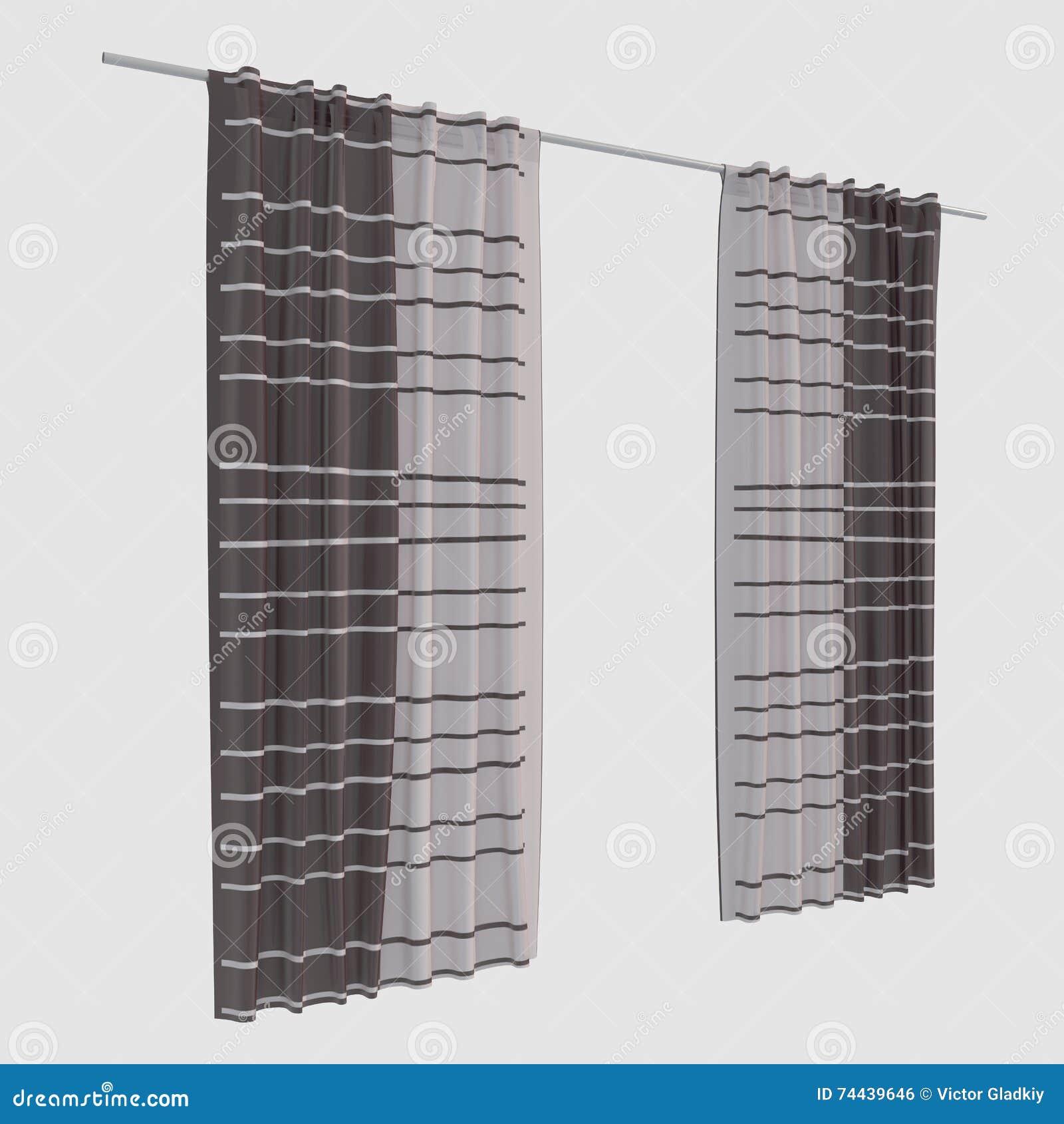 занавесы иллюстрации 3d изолированные на белой предпосылке