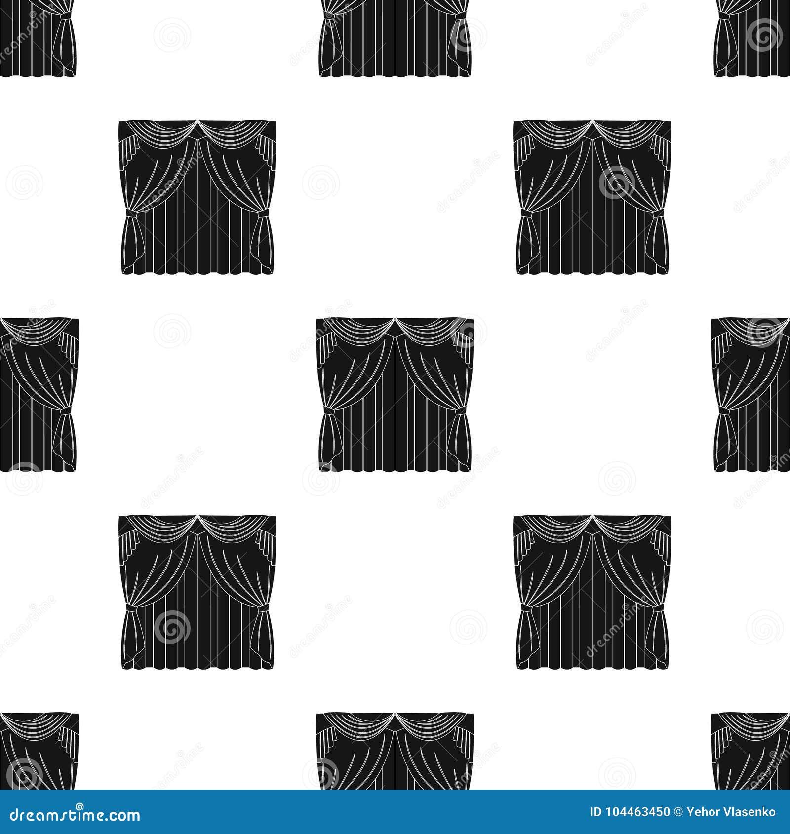 Занавесы, одиночный значок в черном стиле Занавесы, сеть иллюстрации запаса символа вектора
