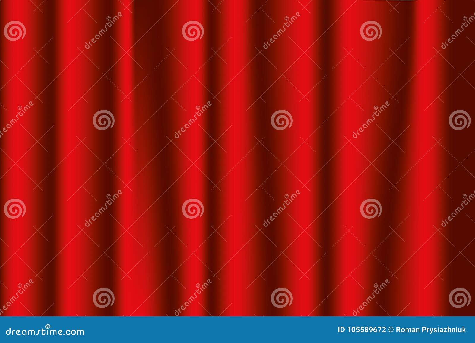 Занавесы этапа красные Предпосылка оперы или театра вектор