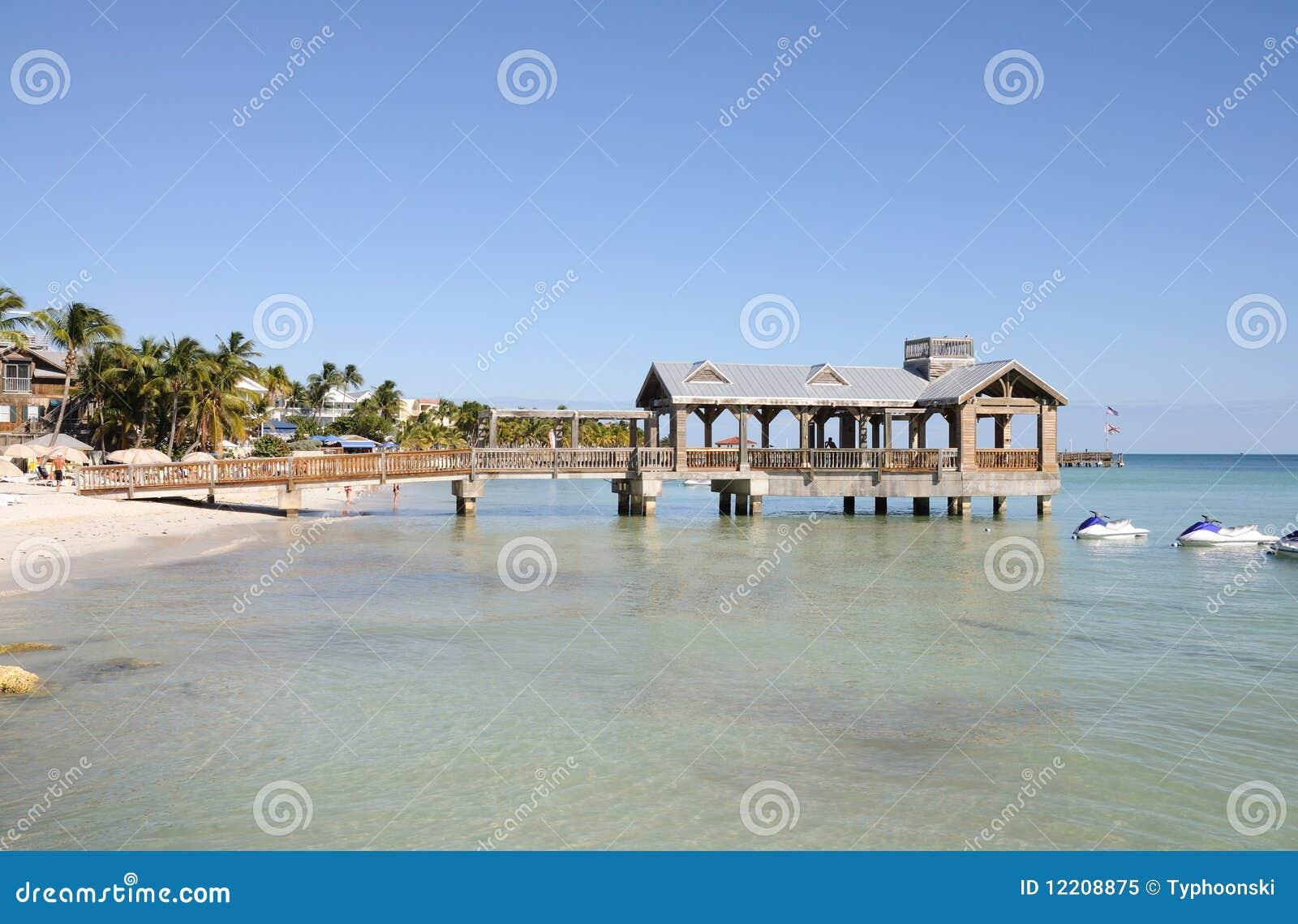 запад florida пляжа ключевой