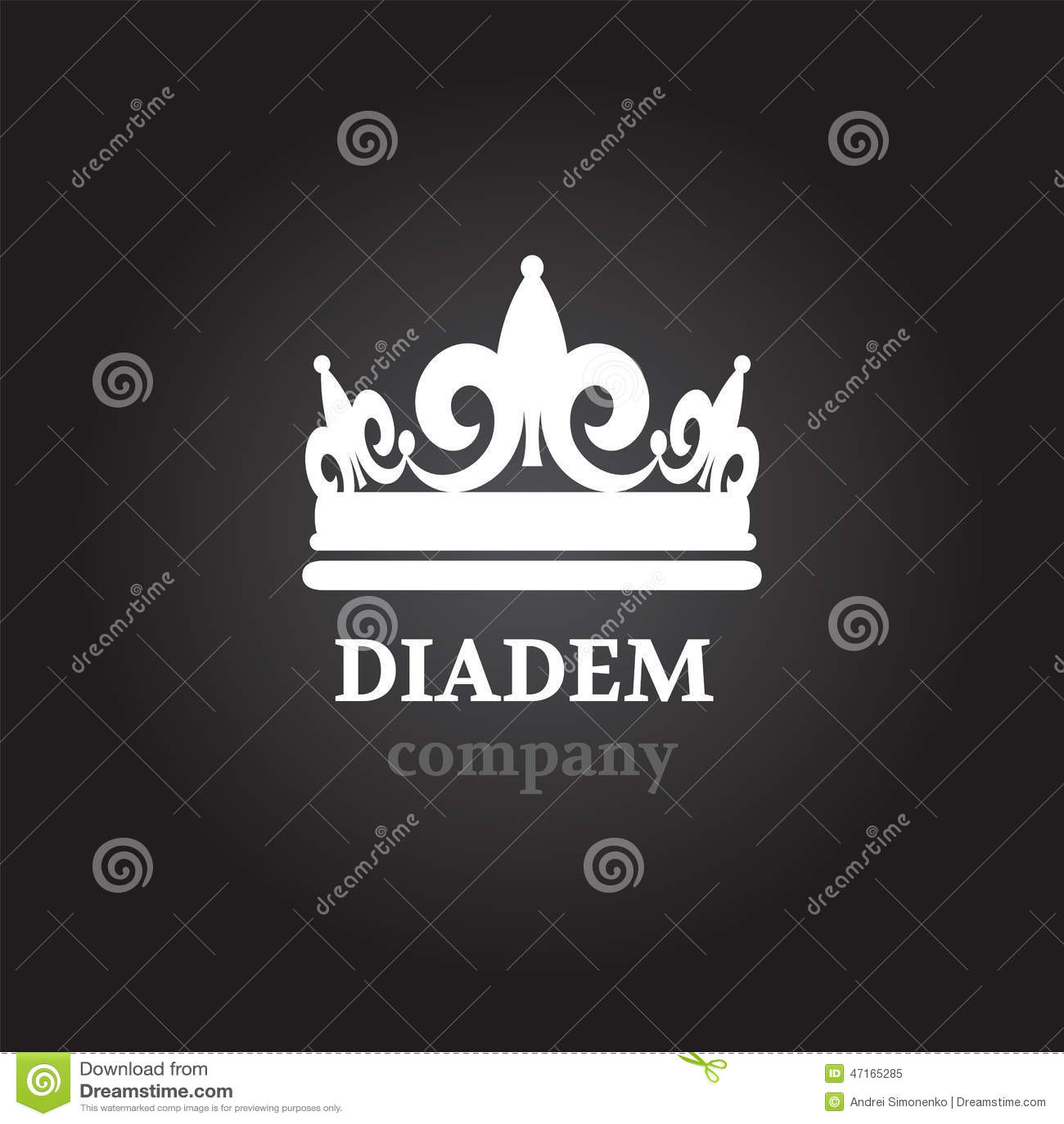 Запас значка силуэта вектора Diadem