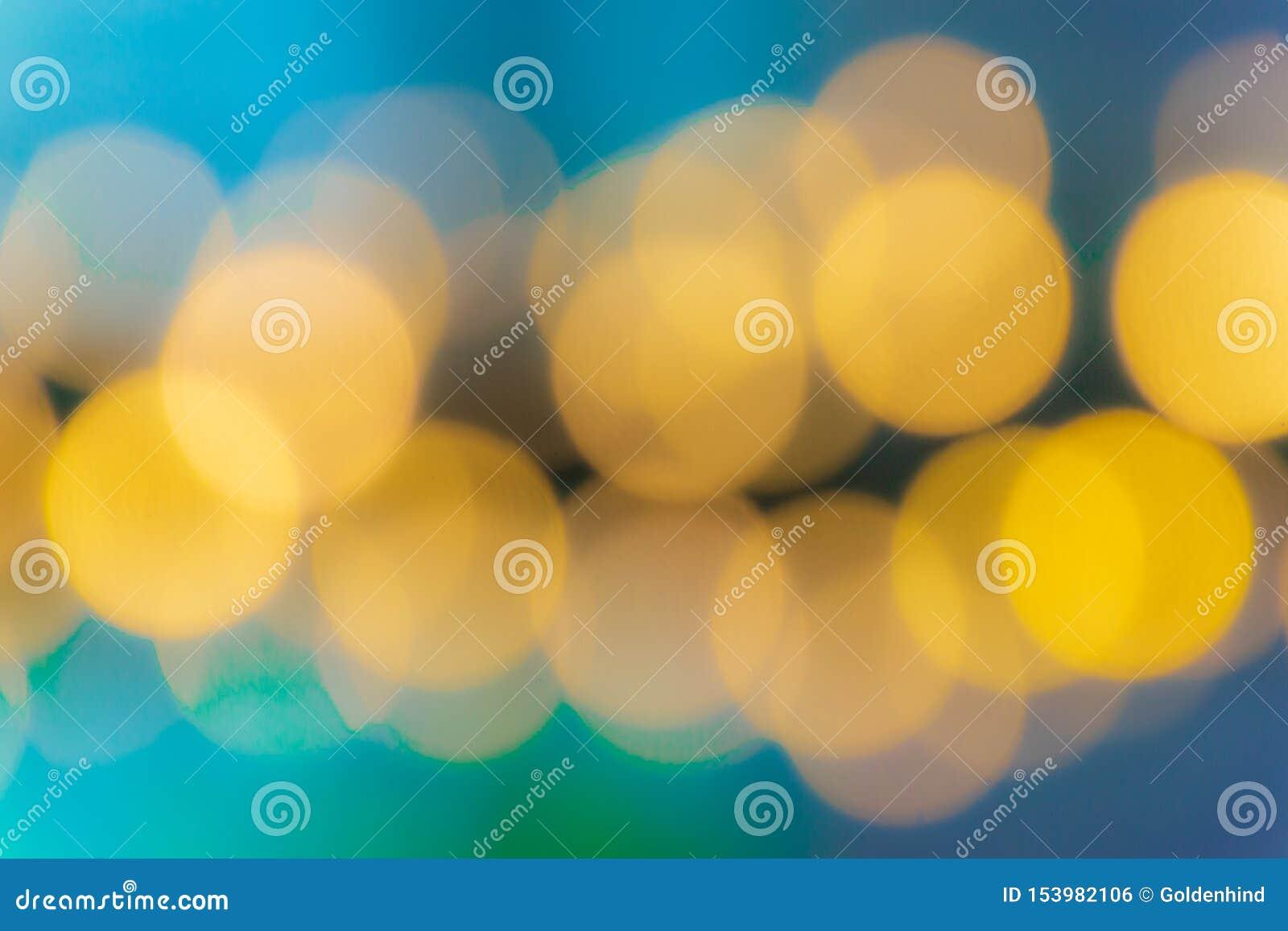 Запачканная абстрактная картина лампы bokeh colorfull