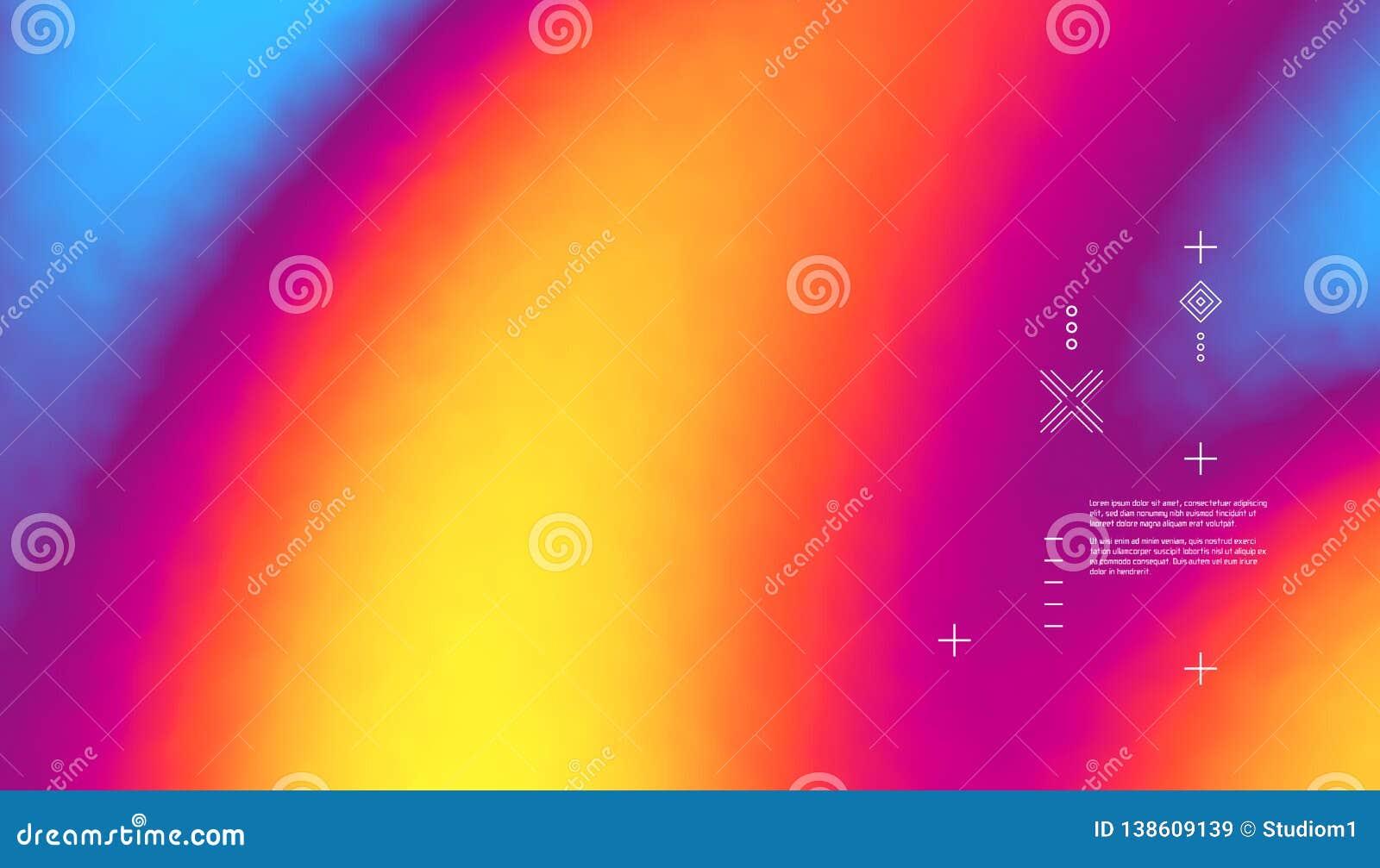 Запачканная конспектом предпосылка цвета Современный дизайн вектора экрана для передвижного app Ультрамодные градиенты