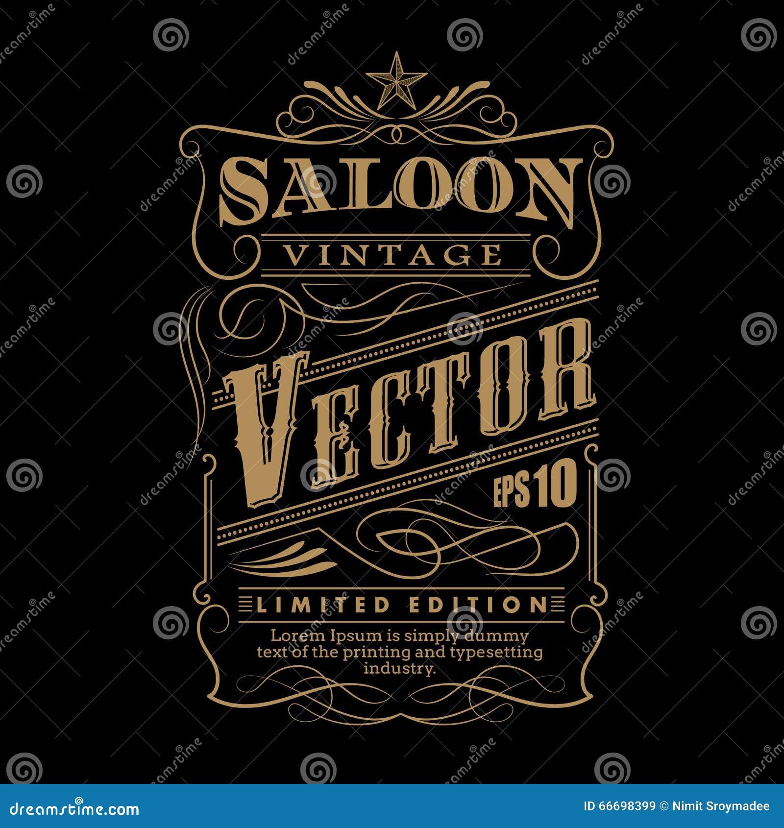 Западной нарисованный рукой вектор года сбора винограда границы ярлыка рамки