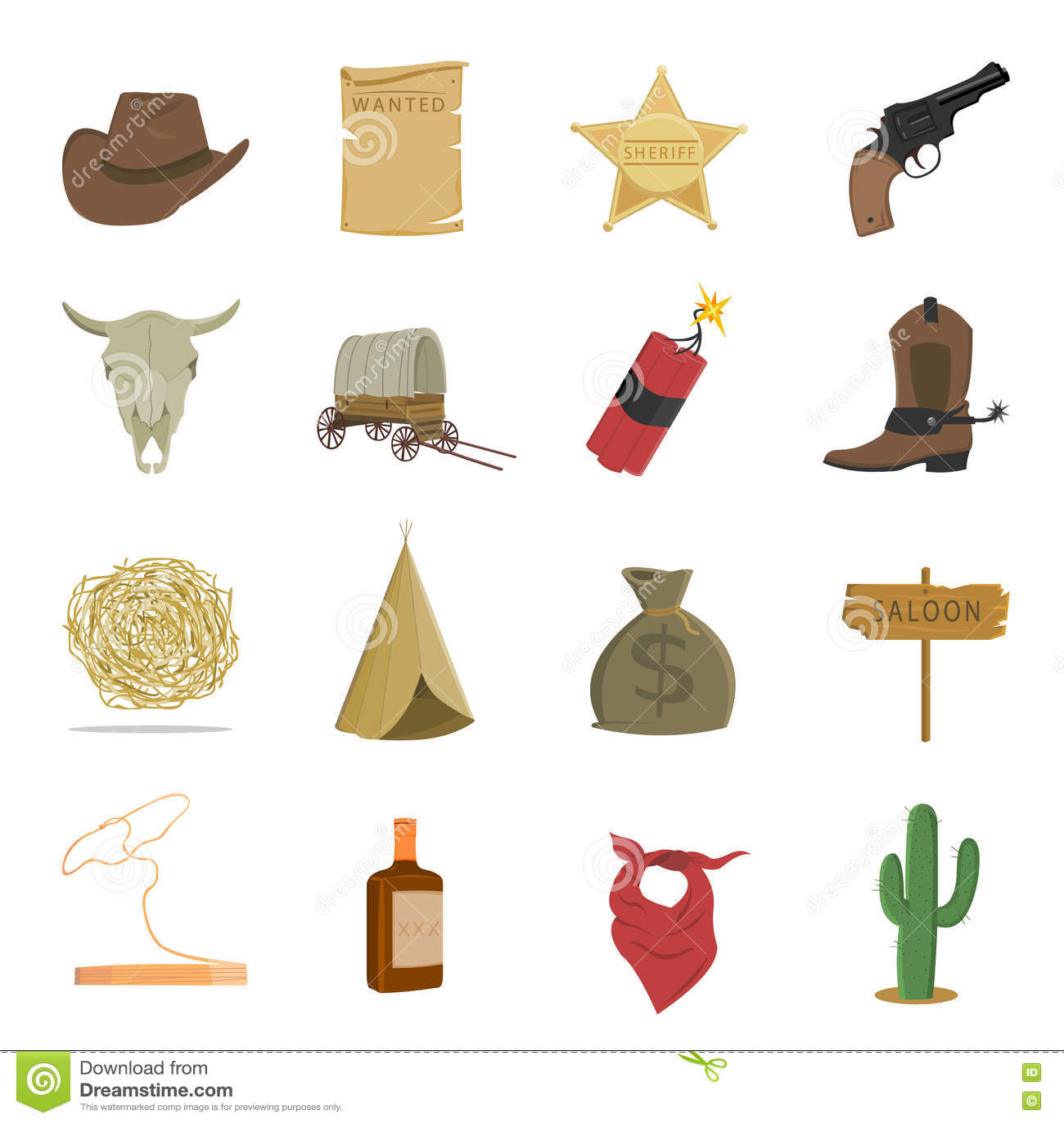 Download Западные 16 значков вектора установили в стиль шаржа Иллюстрация вектора - иллюстрации насчитывающей культура, шлем: 72299977