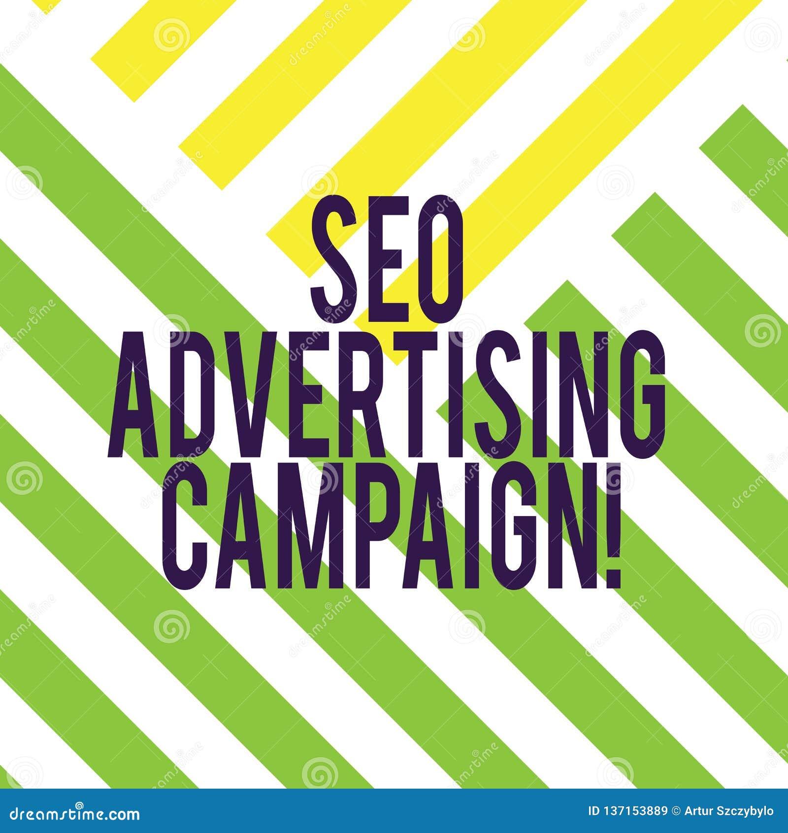 Запись примечания показывая рекламную кампанию Seo Фото дела showcasing повышающ место для увеличения номера