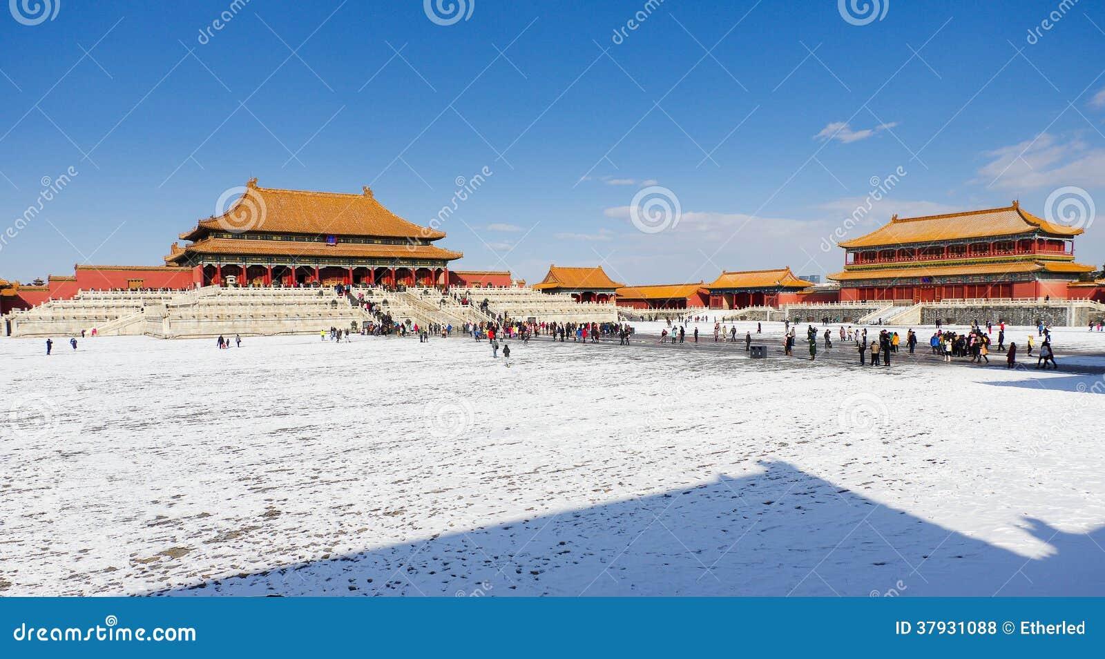 Запретный город после снега