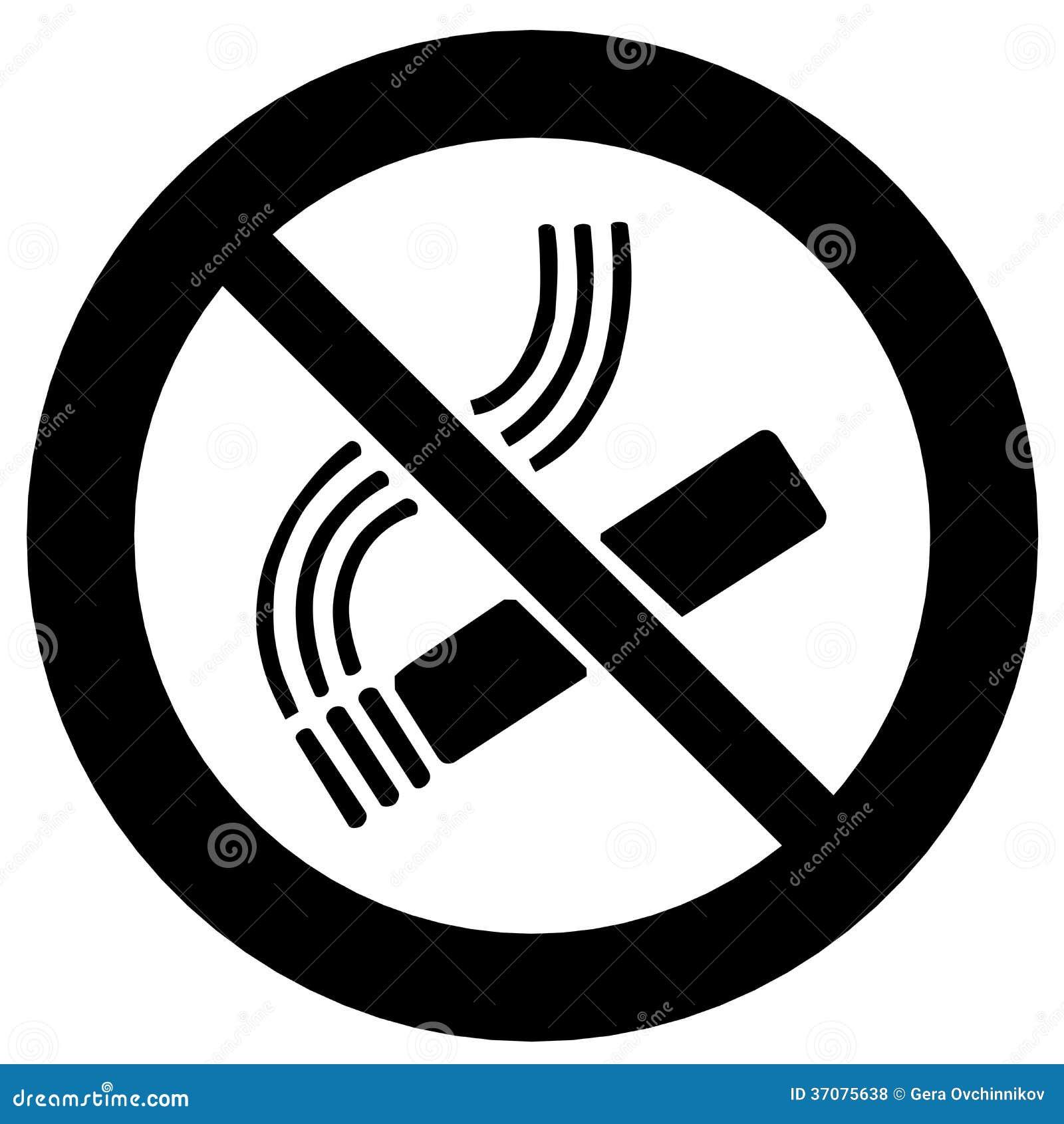 Запрет на курение иллюстрация штока  иллюстрации