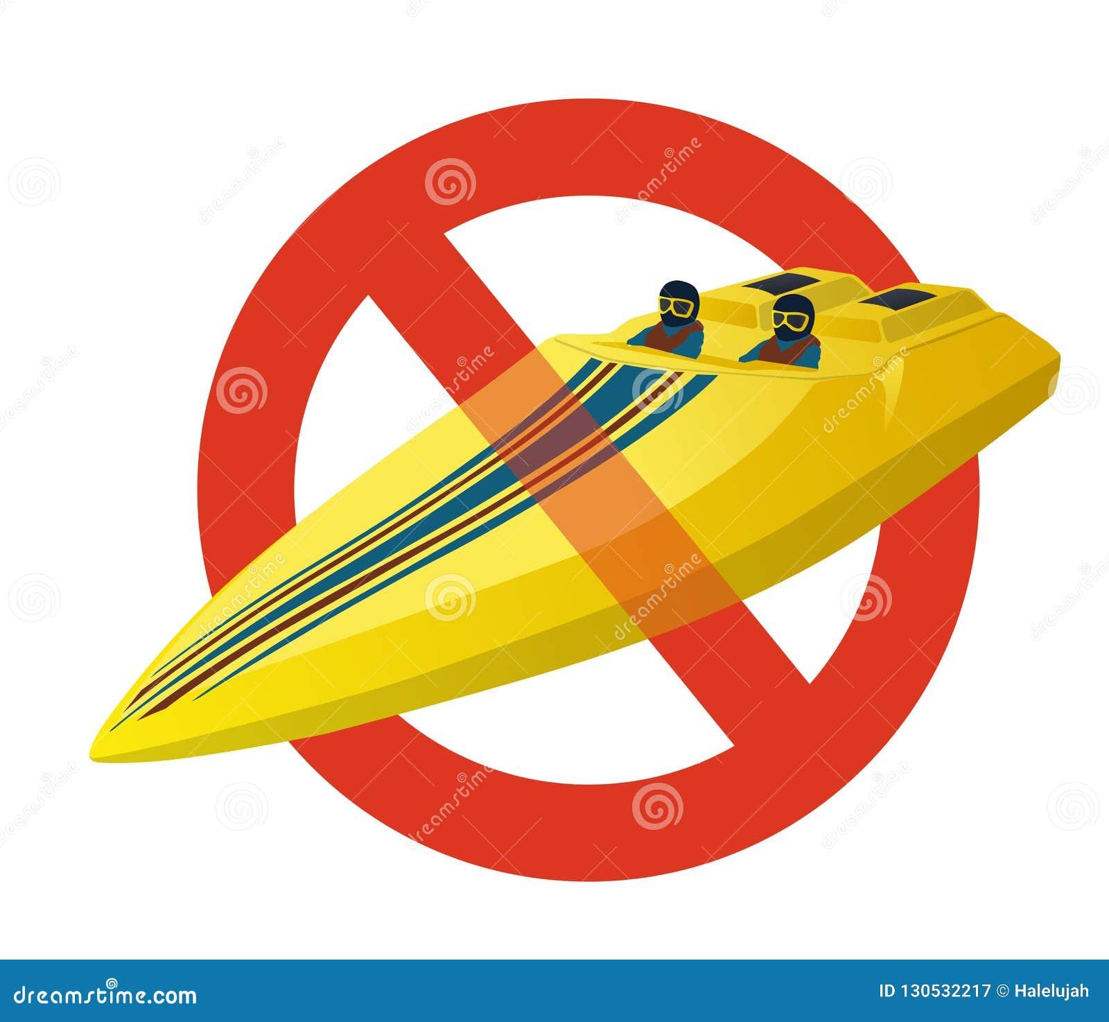 Запрет шлюпки спорт гонки Строгий запрет на моторке конструкции