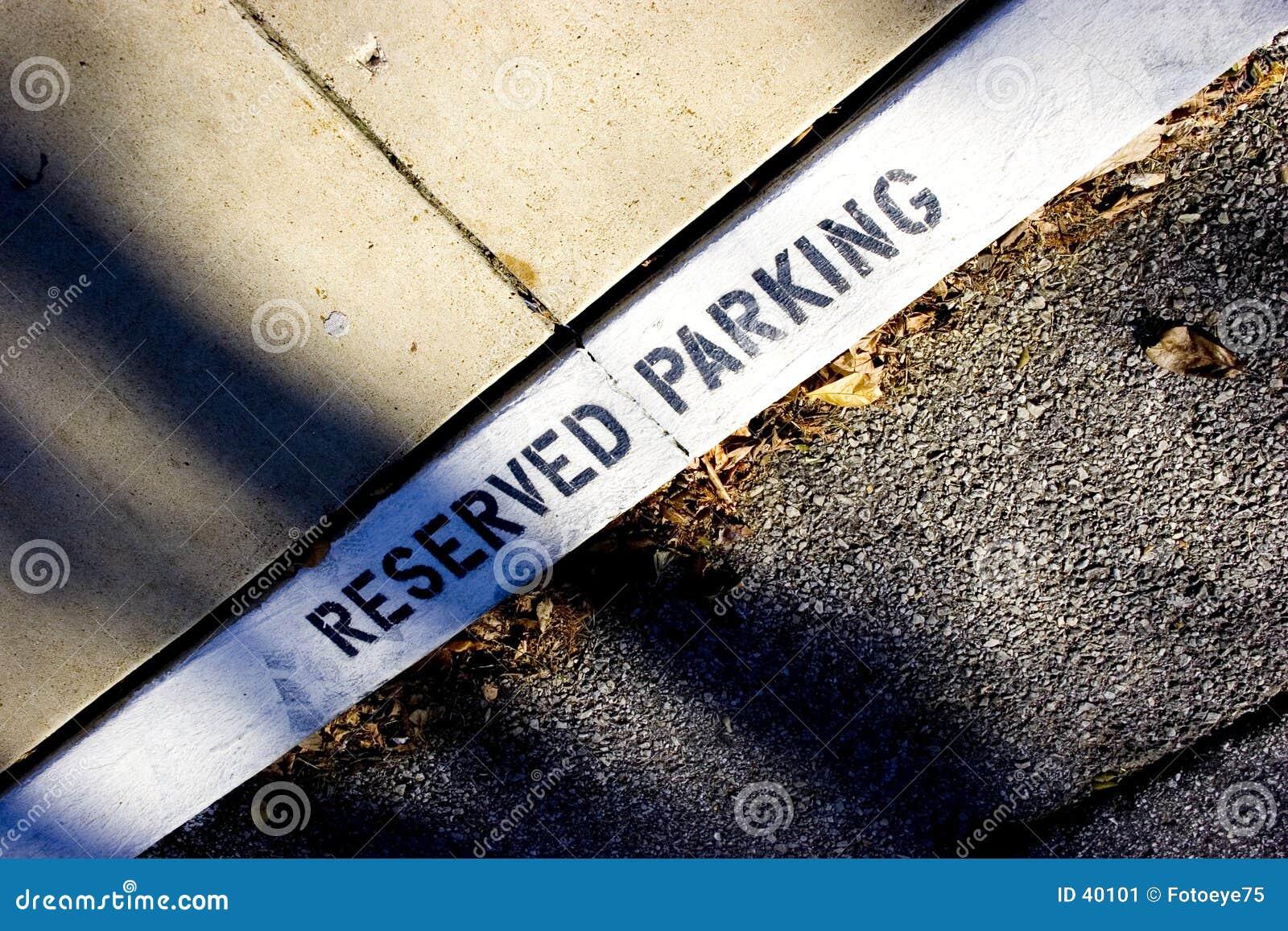 зарезервированный парковать