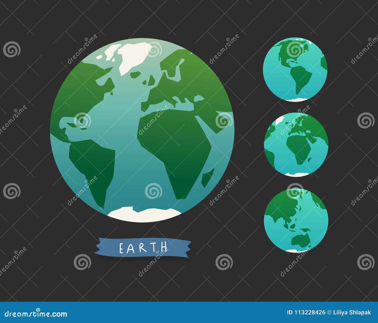 заройте глобус Комплект карты мира