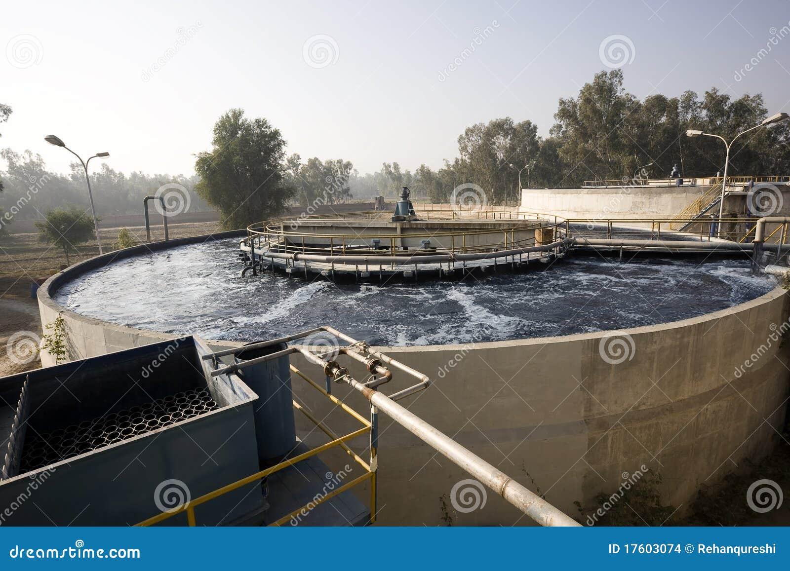 засадите воду обработки
