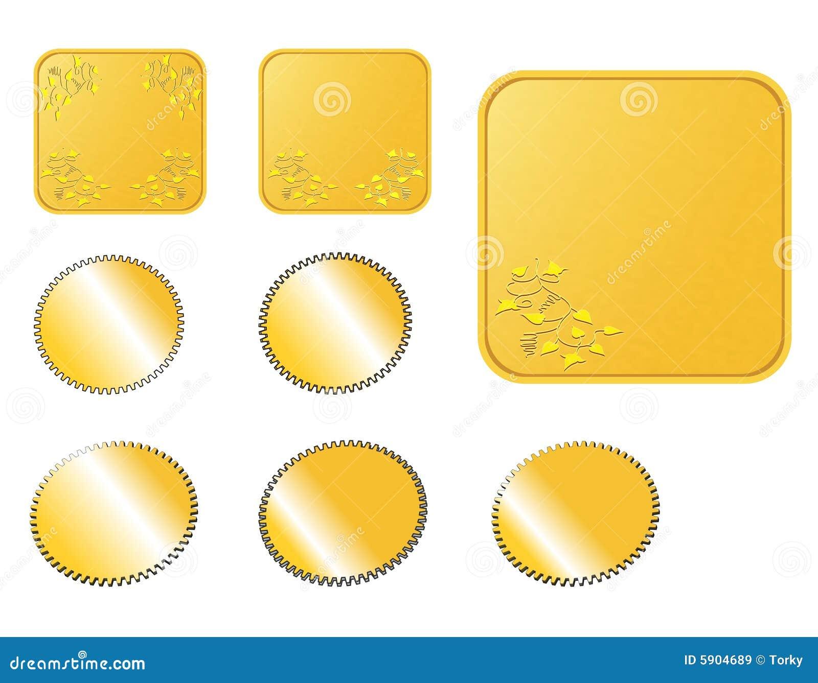 застегивает золотистую сеть
