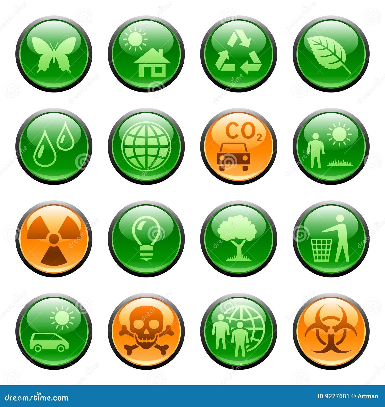 застегивает иконы экологичности