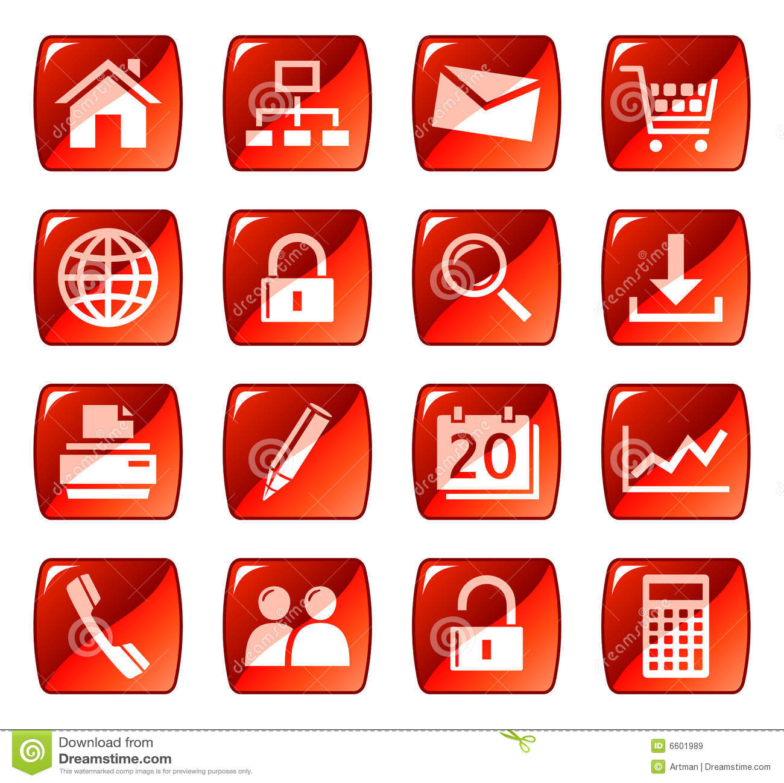 застегивает сеть красного цвета икон