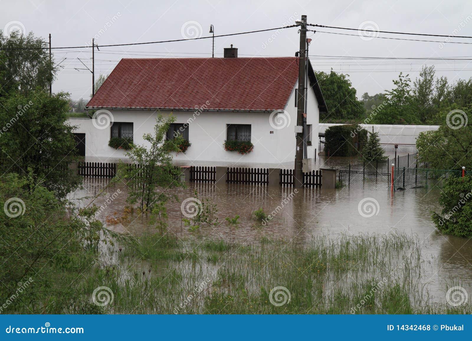 затопленная дом