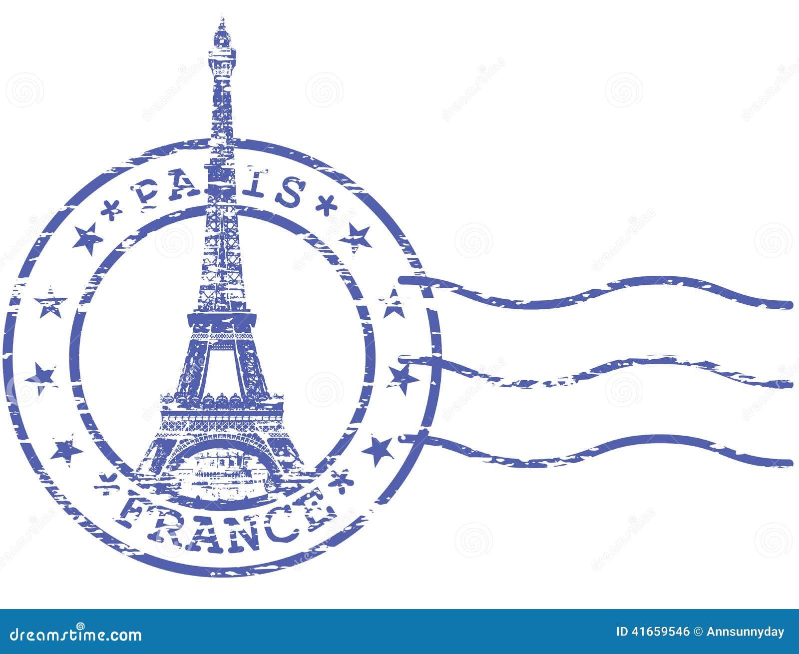 Затрапезный штемпель с Эйфелевой башней